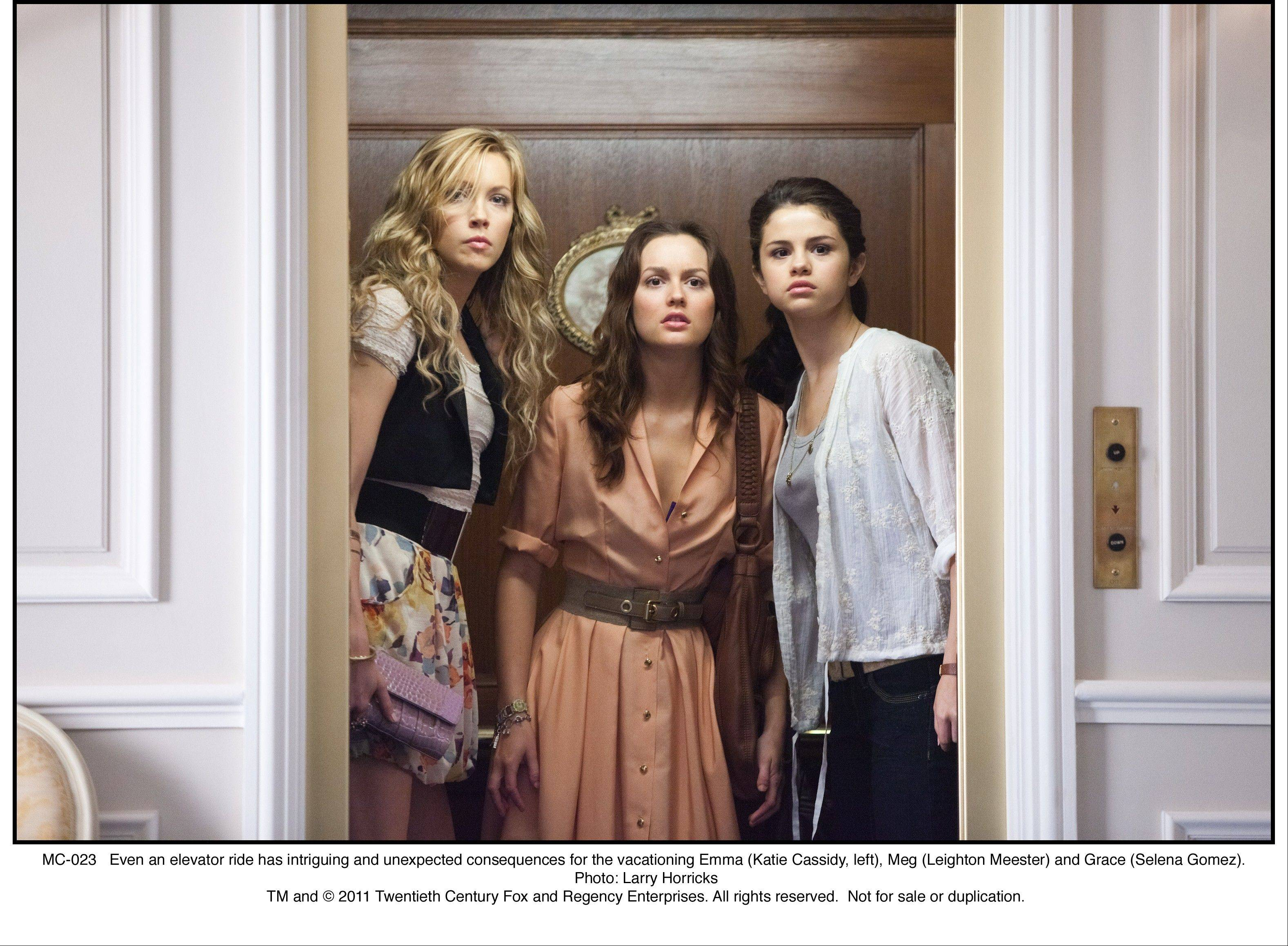 "Emma (Katie Cassidy), left, Meg (Leighton Meester) and Grace (Selena Gomez) get involved in a case of mistaken identity in the comic romance ""Monte Carlo."""