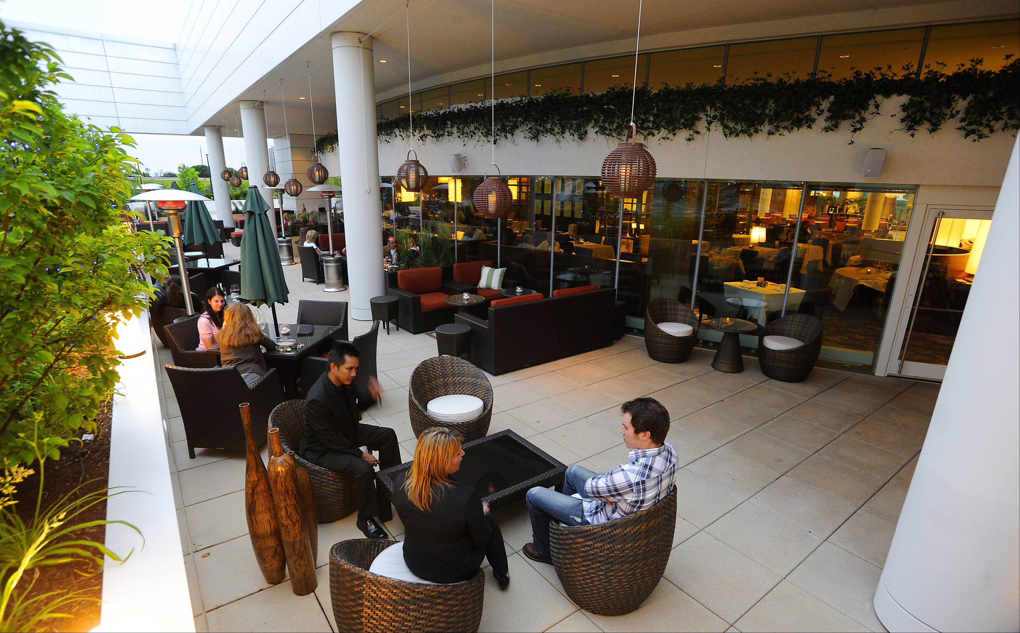 The Terrace Lounge is a nice warm-weather drinks-and-dining option at the Renaissance Schaumburg Convention Center.