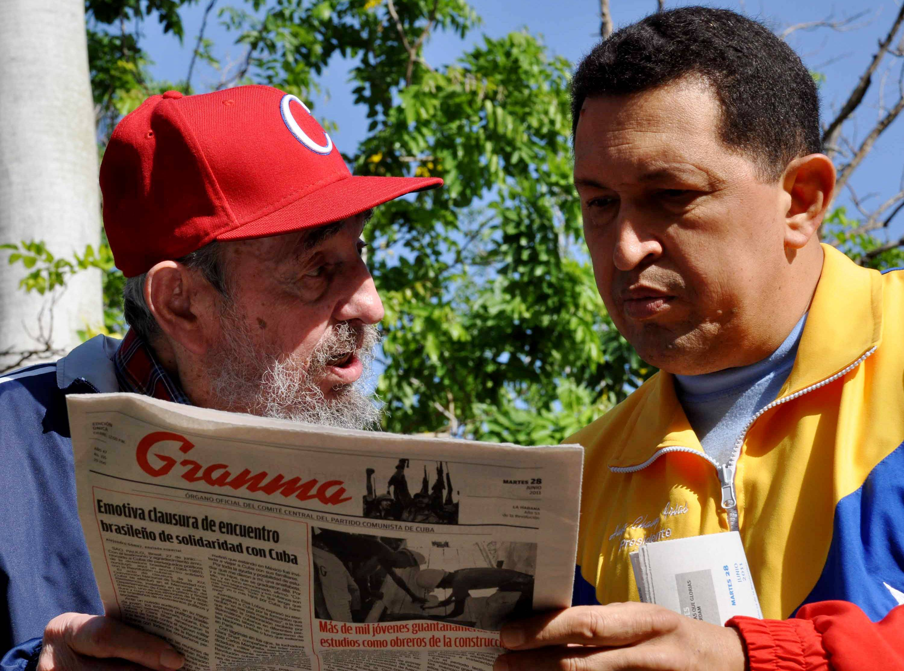 Venezuelan President Hugo Chavez, shown here with Cuba's Fidel Castro, revealed that he is fighting cancer.