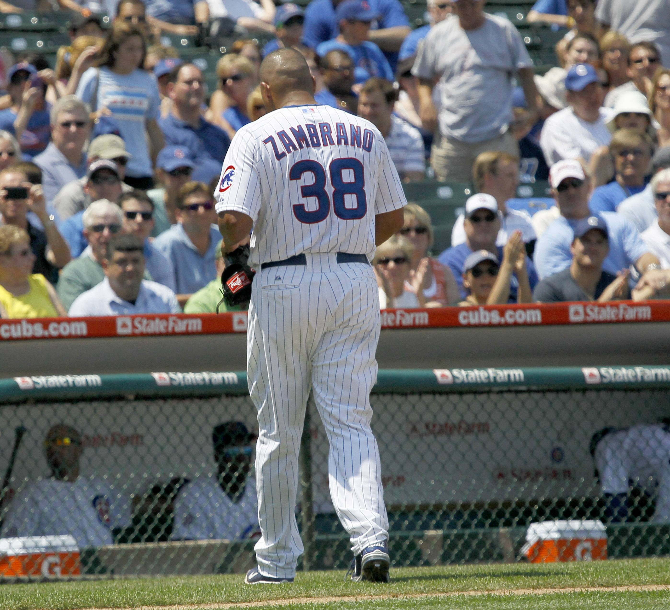 Cubs pitcher Carlos Zambrano was put on the 15-day disabled list today because of soreness in his lower back.