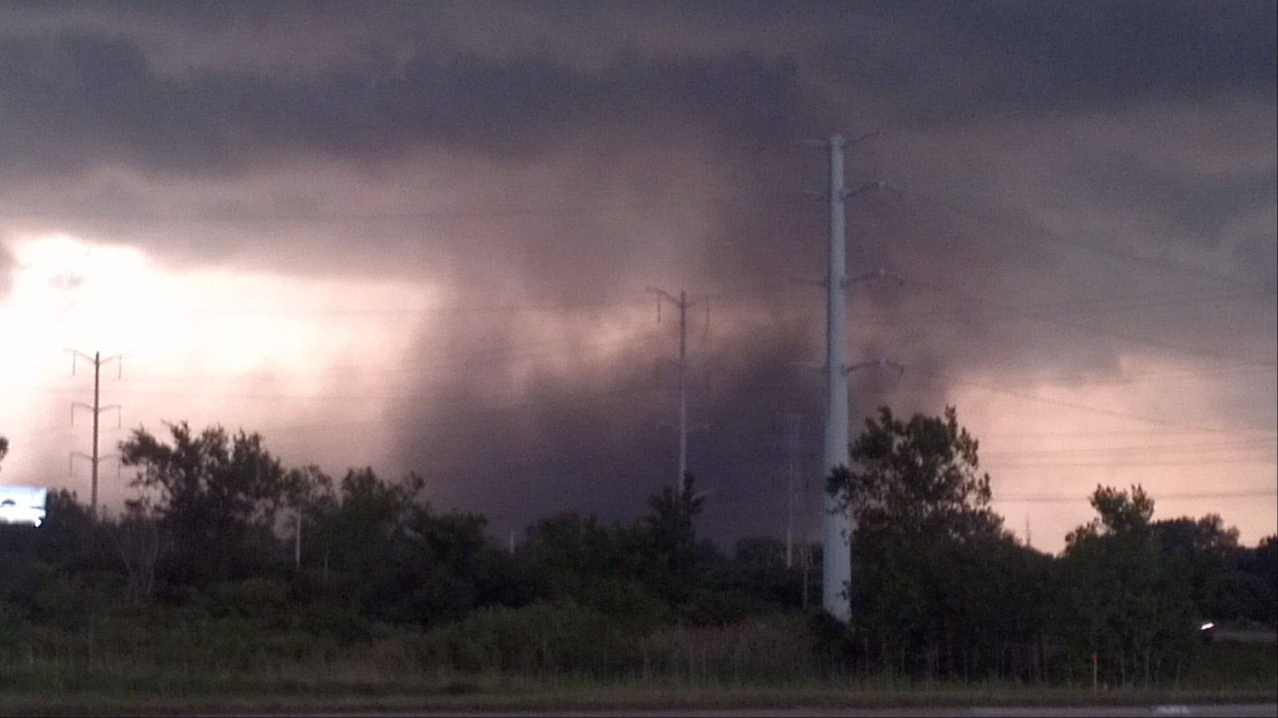 James Wright snapped this shot in Flanagan's parking lot in North Chicago shortly before the storm hit.