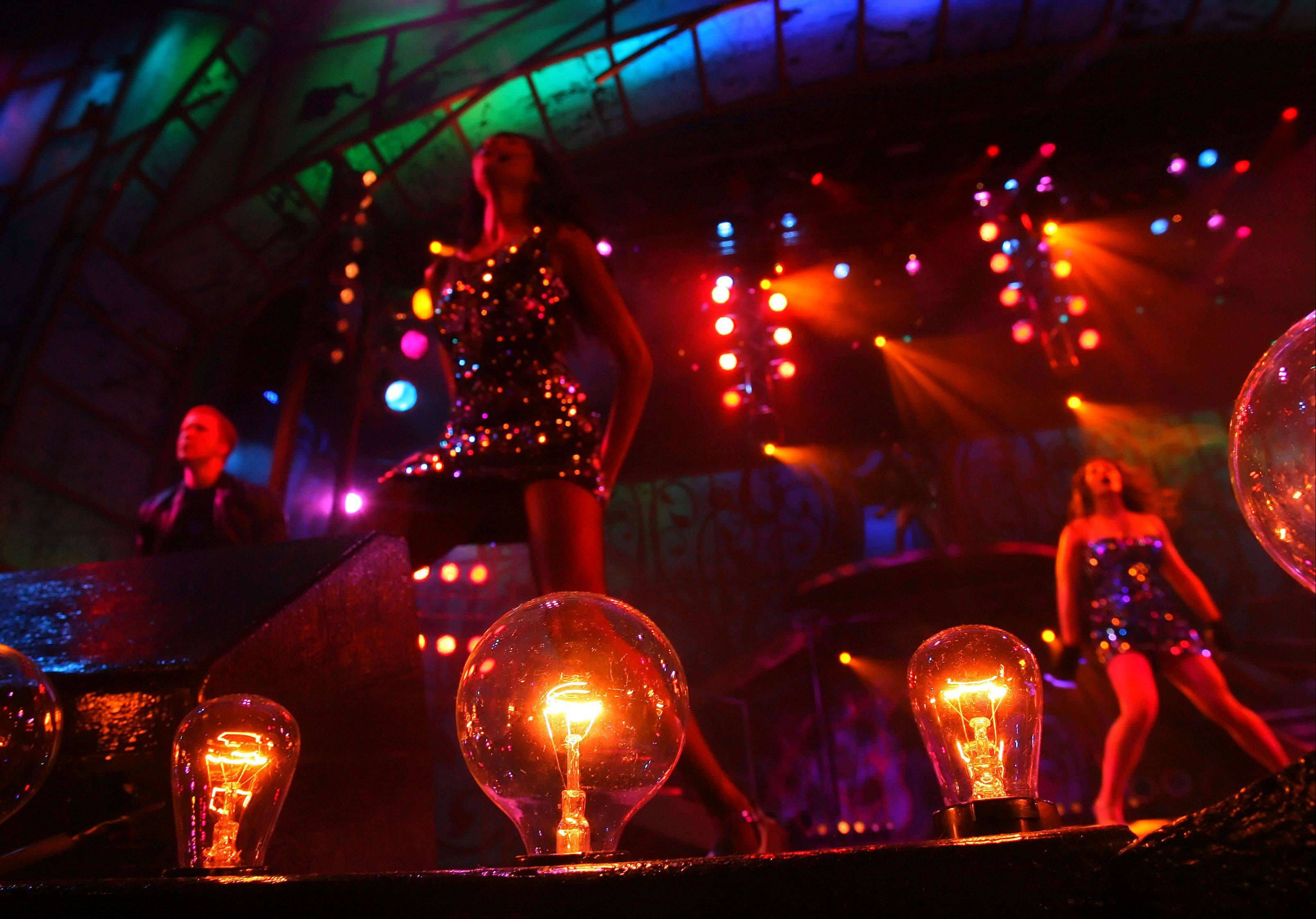 "Cast members do their grand finale during the production of ""Pop Fusion"" at Six Flags."