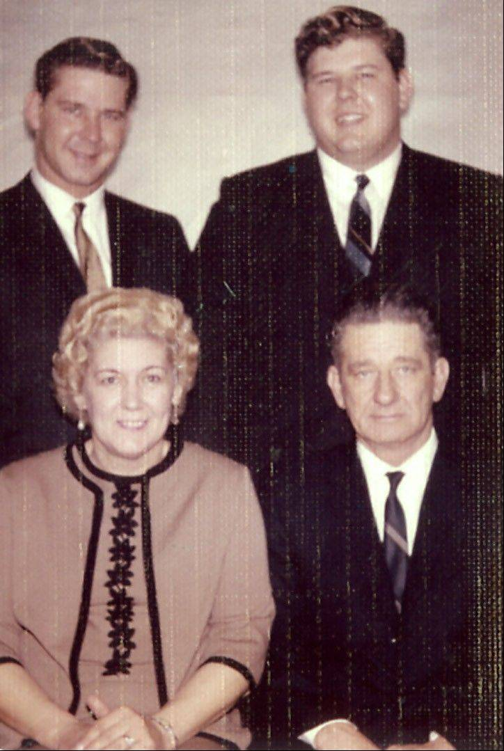 The Teets family in 1967: clockwise from top left, Earl Jr., Gary, Earl Sr., Elizabeth.