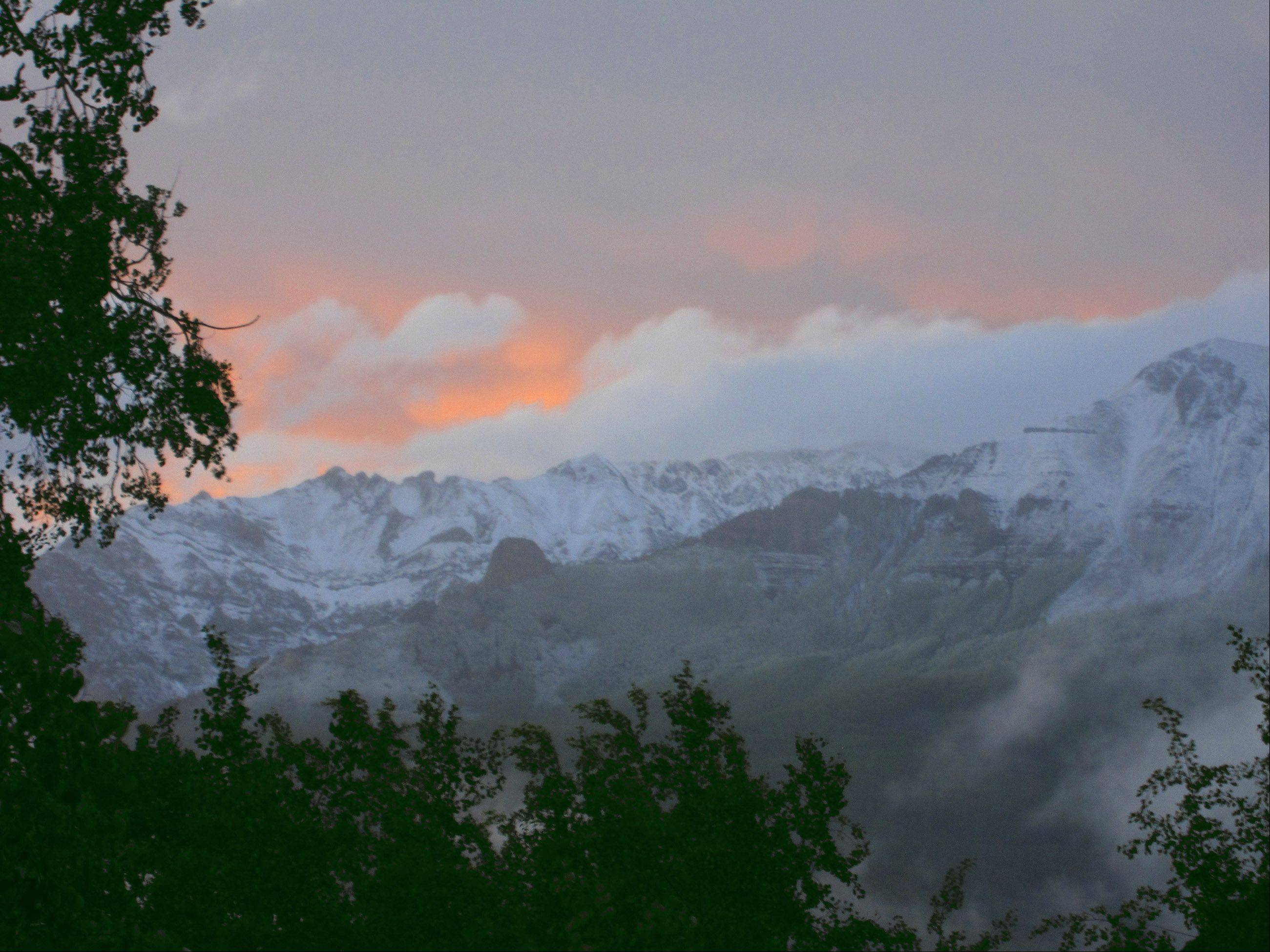 This is after a new snowfall out here in beautiful Telluride, CO with its spectacular sunsets.