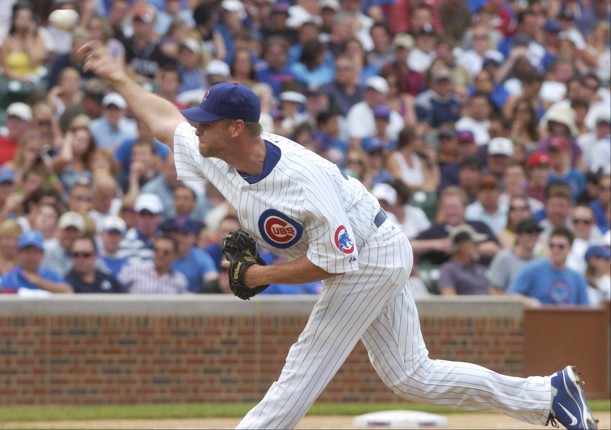 Kerry Wood of the Cubs makes an appearance during Friday's game against the White Sox.