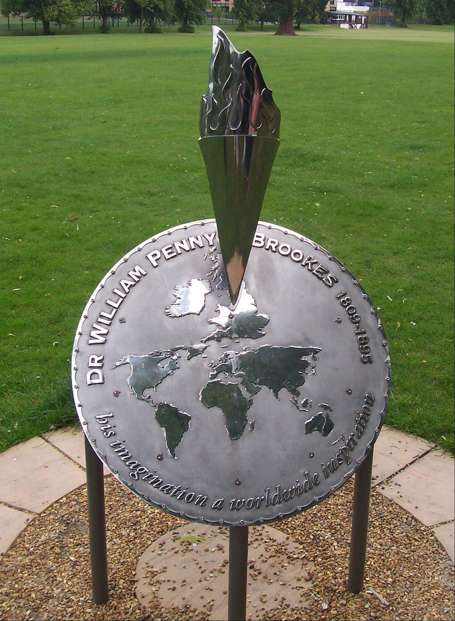 A commemorative torch sits at Linden Field in Much Wenlock, England, known as the birthplace of the modern Olympics. With the 2012 London Olympics just over a year away,Much Wenlock is celebrating early, and with good reason.