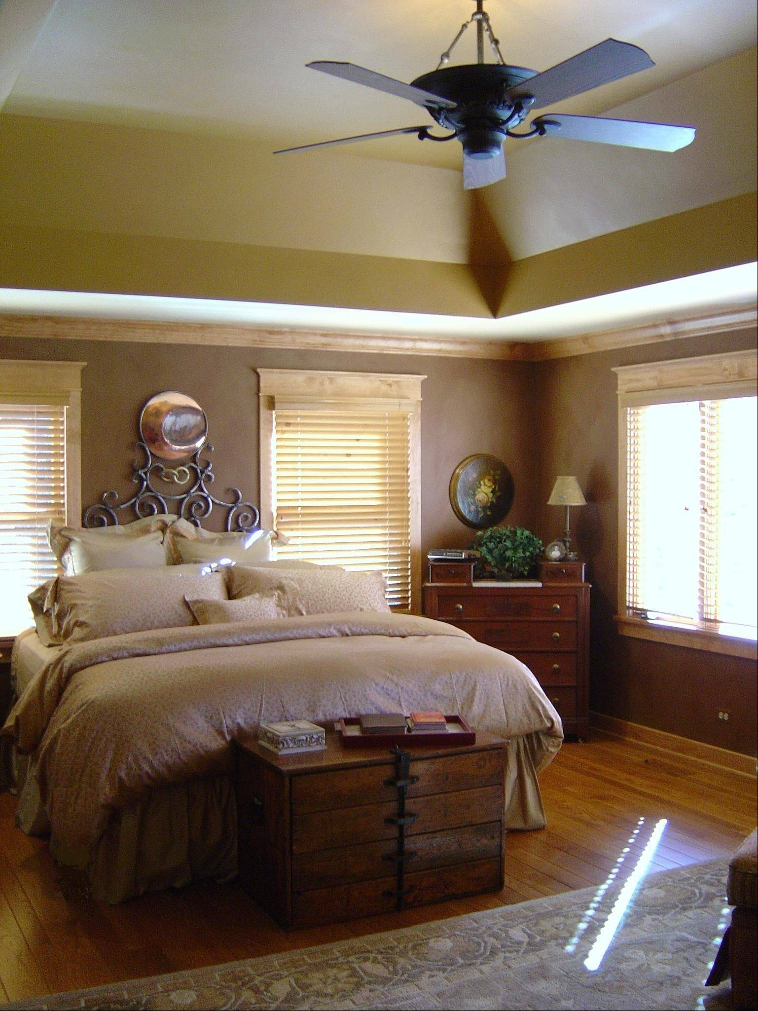 The master bedroom project is the work of McDowell Inc. in St. Charles.