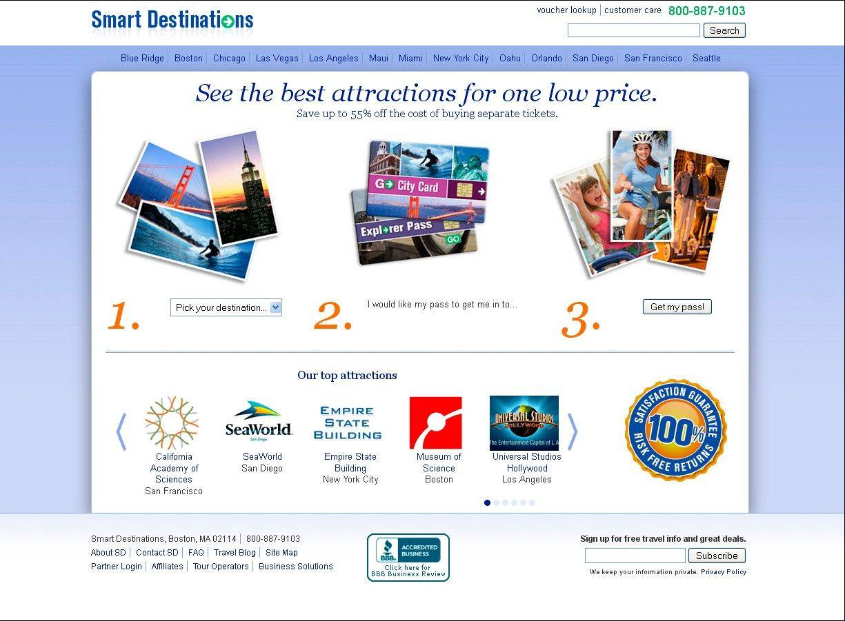 Smart Destinations takes the traditional city travel pass (pay one price to visit a set list of sites for a certain number of days) and lets vacationers pick out only the attractions they want.