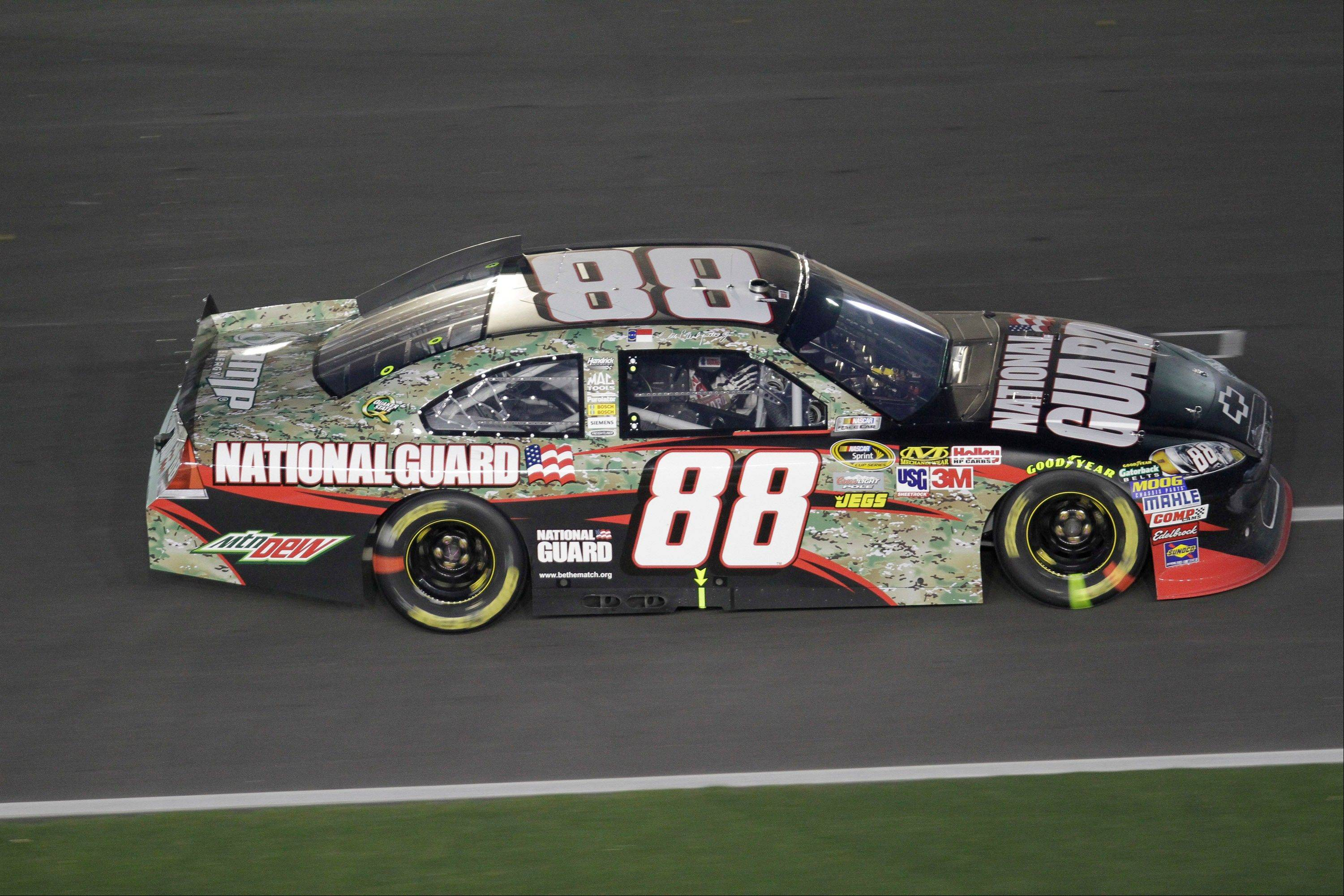 Associated Press Dale Earnhardt Jr. (88) drives his National Guard Chevrolet during the NASCAR Coke Zero 400 auto race Saturday at Daytona International Speedway in Daytona Beach, Fla. Earnhardt has been highly critical of the new style of racing that has taken over recently.