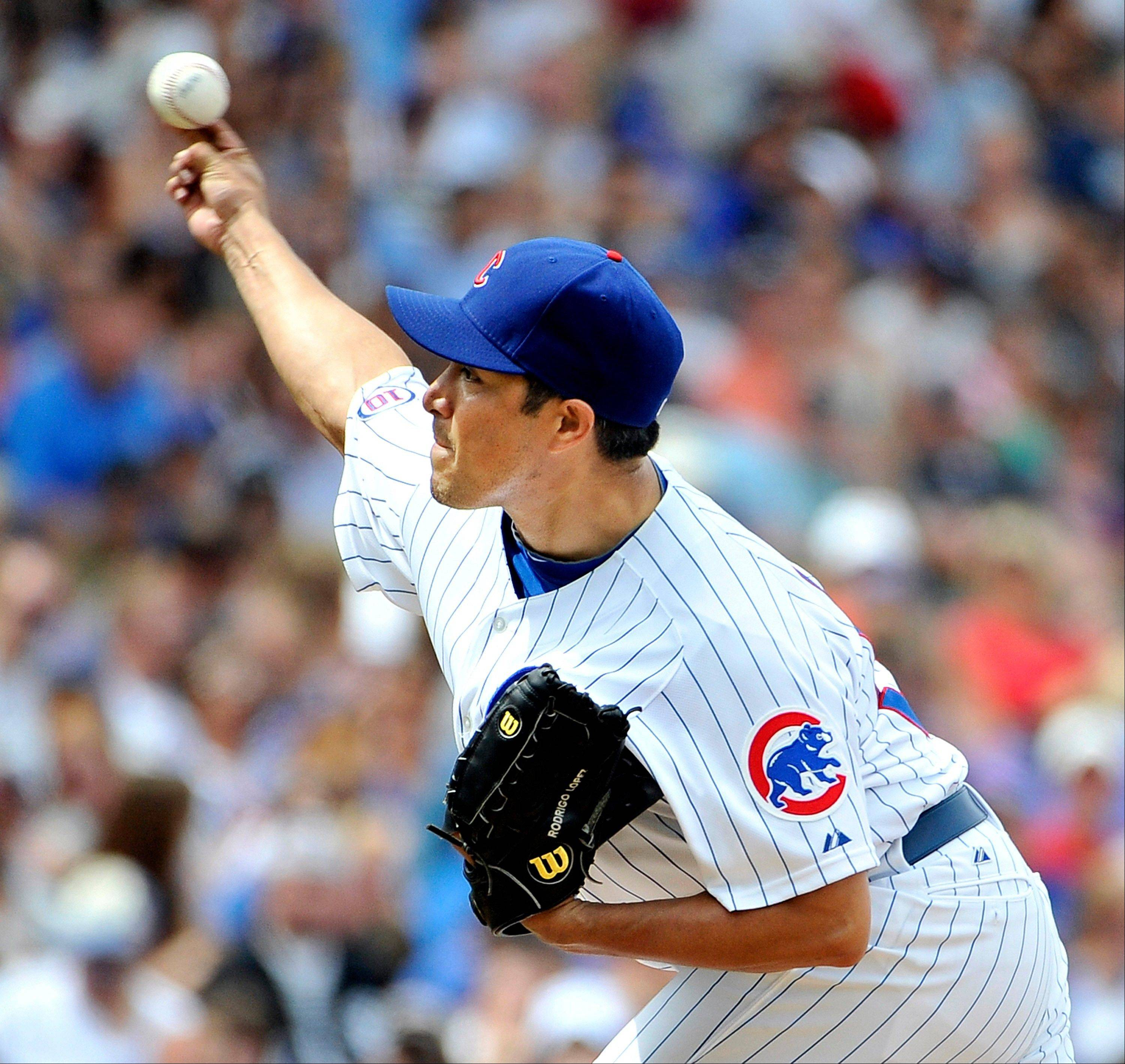 Cubs starter Rodrigo Lopez allowed only 2 hits over 7 innings of work in Sunday's victory over the White Sox.