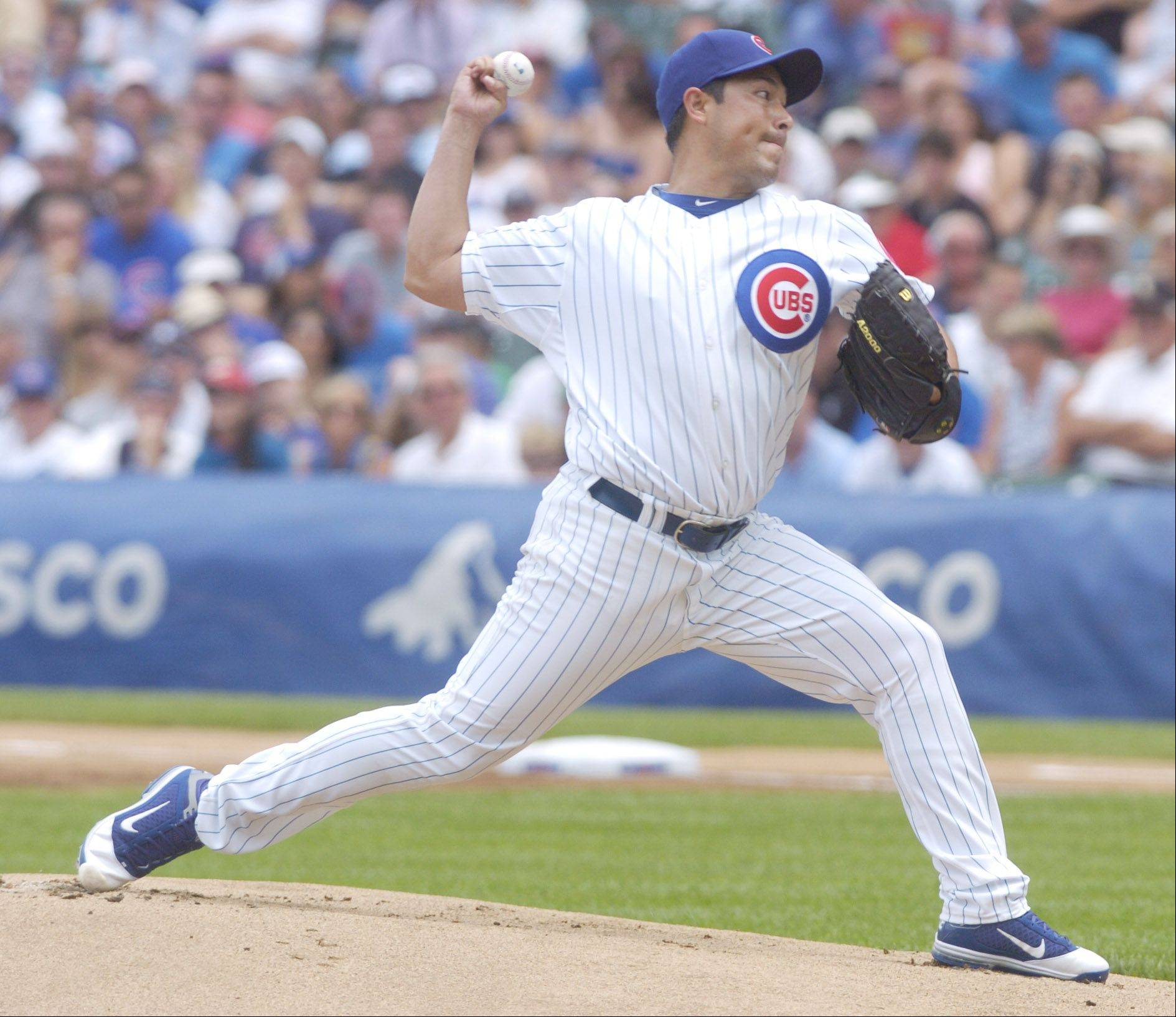 Cubs starting pitcher Rodrigo Lopez delivers against the White Sox Sunday.