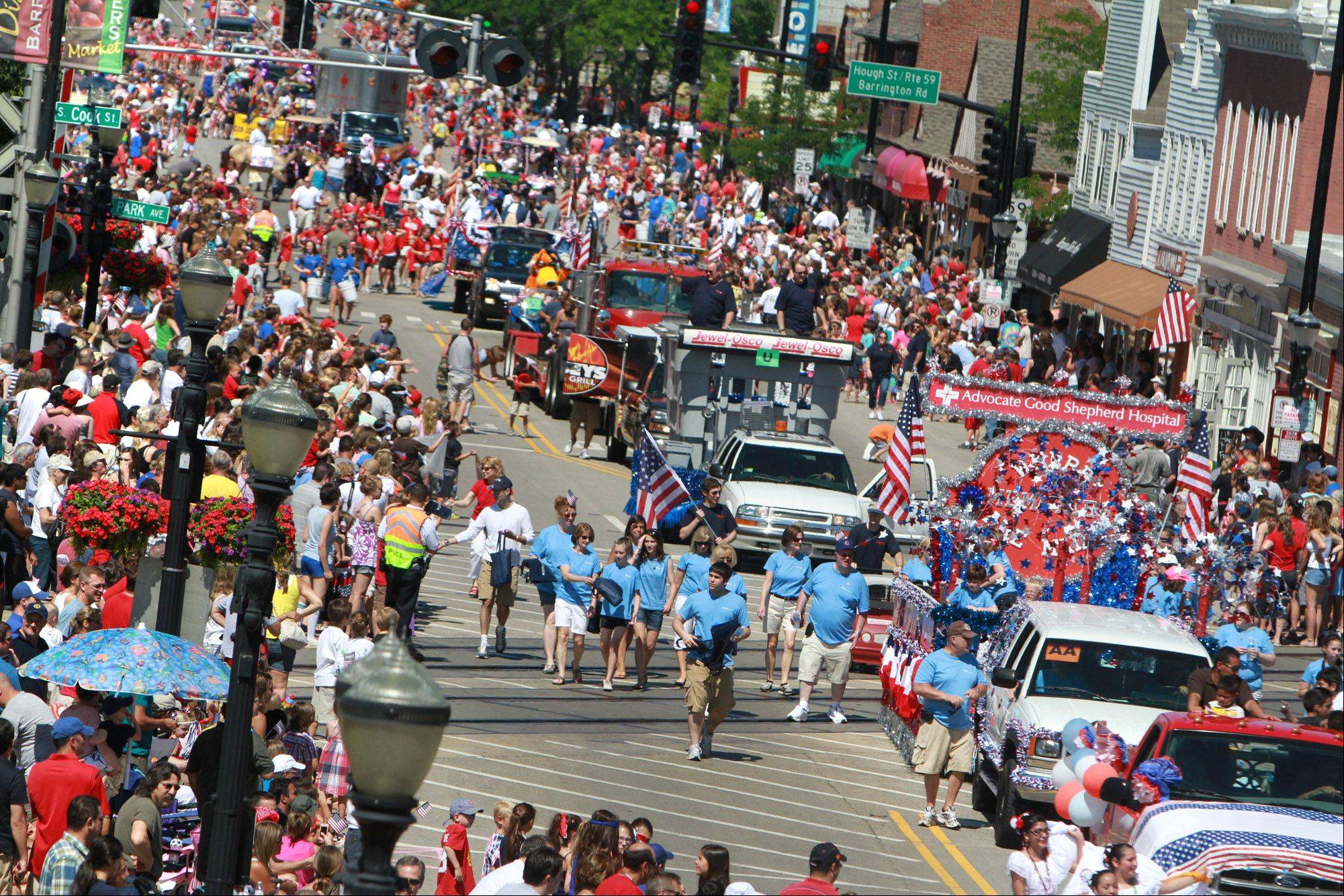 Thousands lined Main Street in Barrington for the Fourth of July parade Monday.