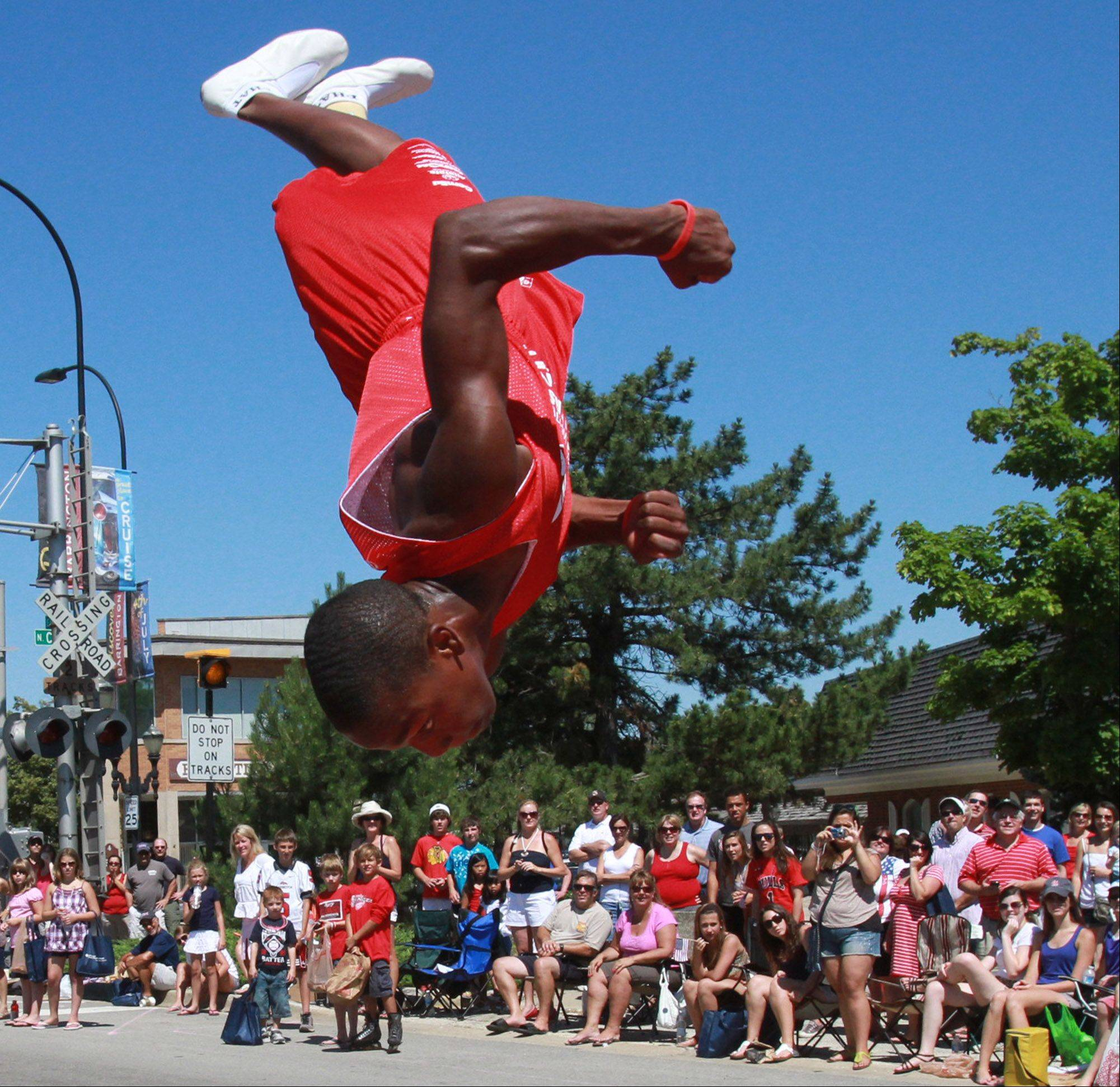 Jessie White Tumblers performed at the Barrington Fourth of July parade on Monday.