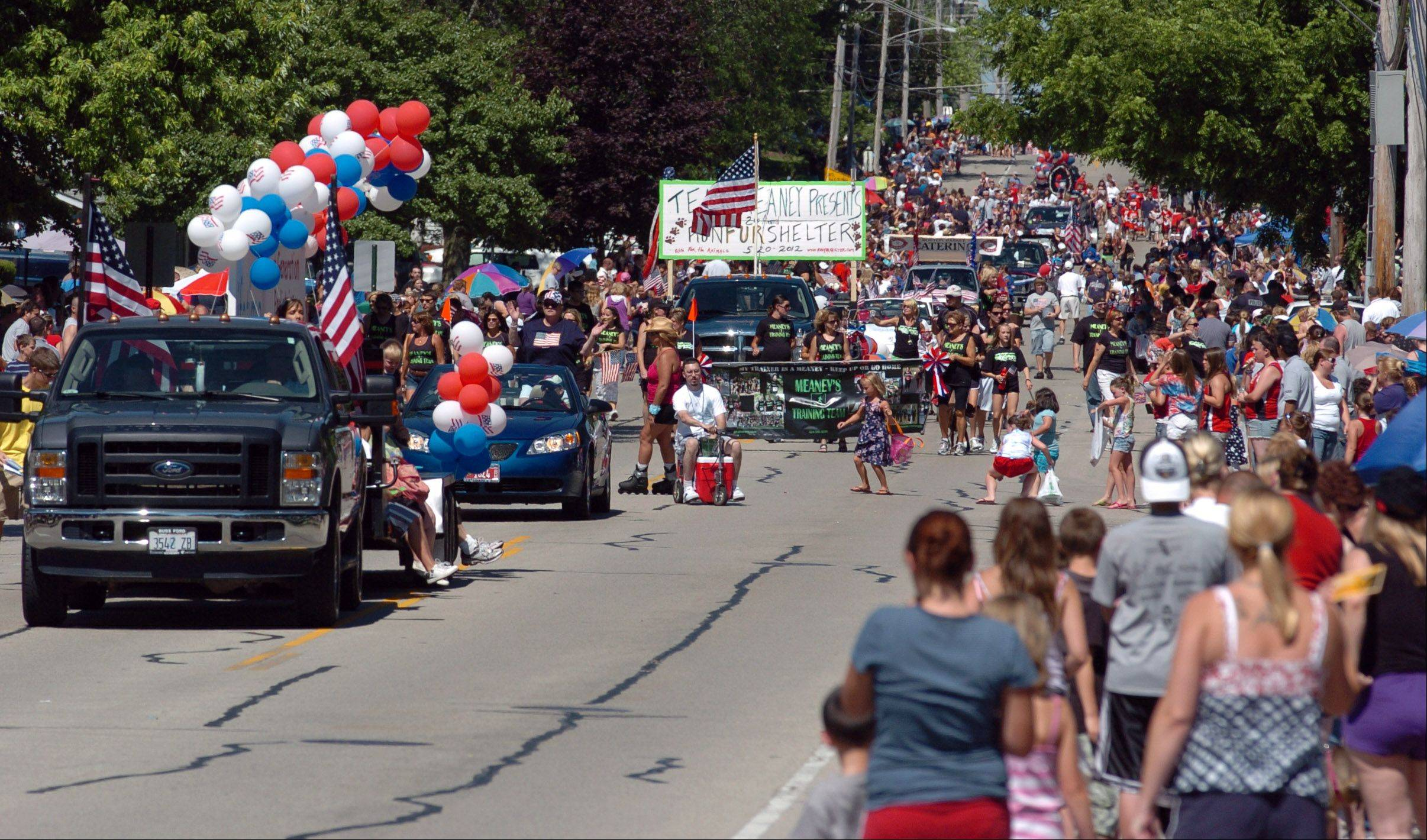 The South Elgin Fourth of July Parade kicked off at 10 a.m. down Spring Street in South Elgin.