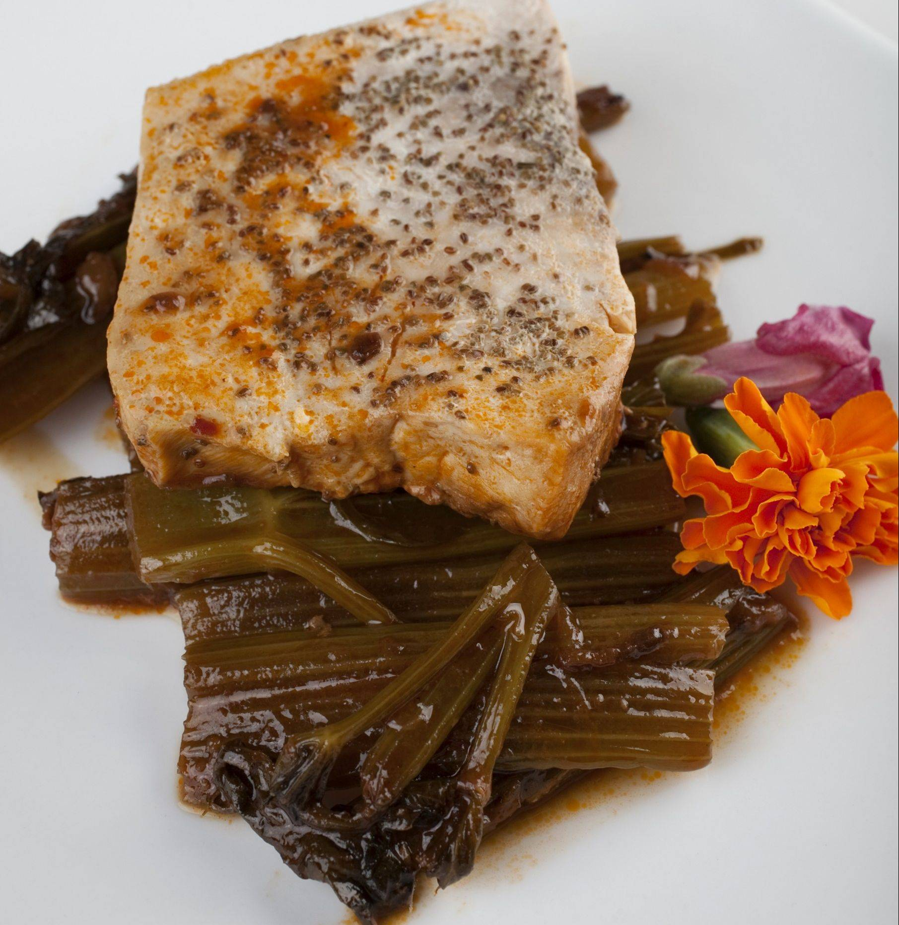 Mahi-mahi with Baised Celery