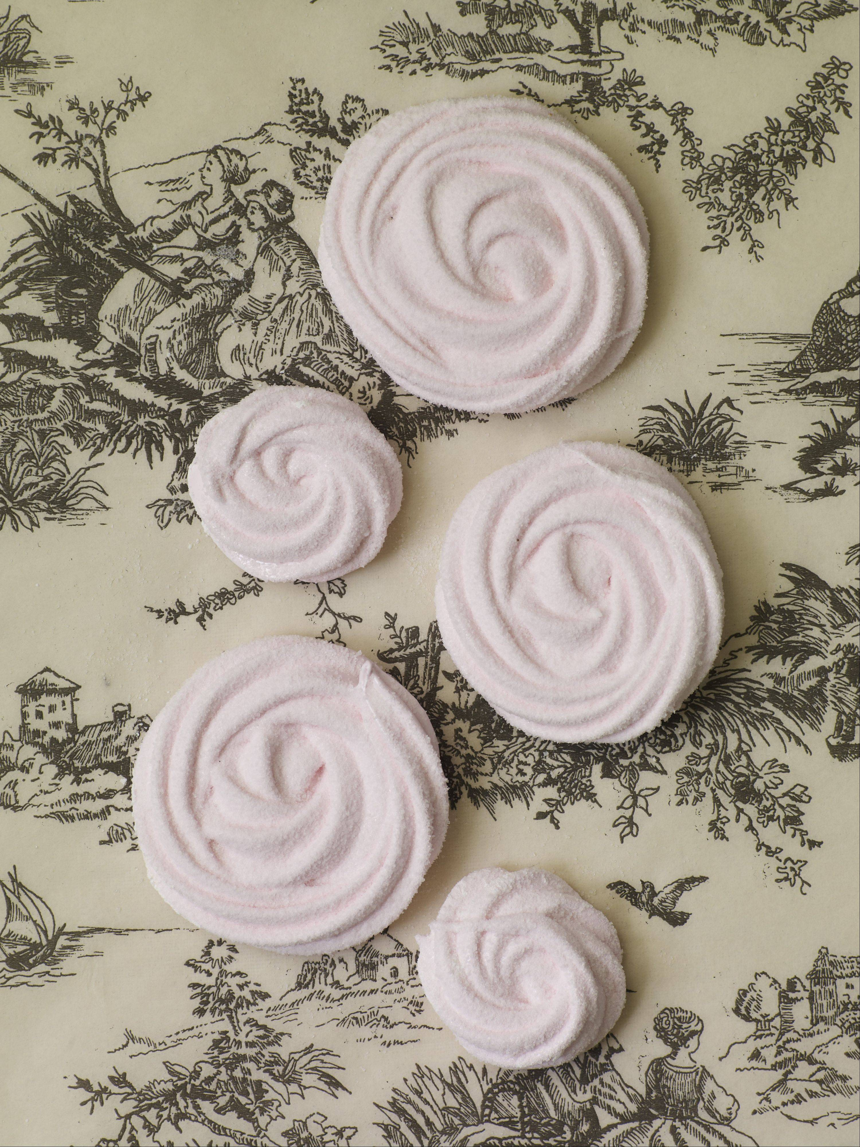 "Courtesy of Stewart, Tabori & ChangYou can call these swirly confections from Gesine Bullock-Prado's ""Sugar Baby"" by their French name, ""guimauve,"" but your kids will still call them ""marshmallows."" And really delicious ones at that."