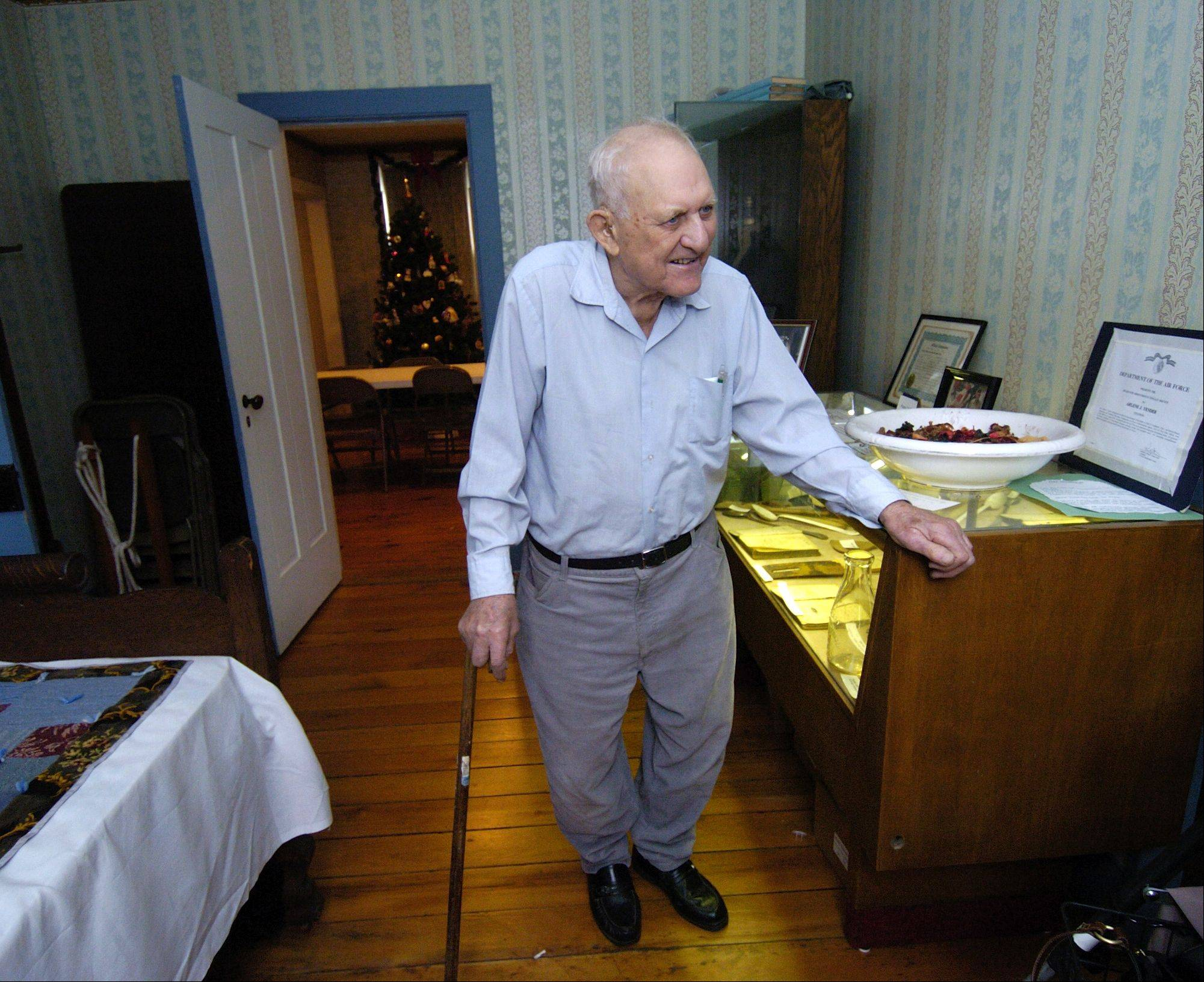 Andy Yender, who passed away Saturday at 93, was born in this bedroom of the Netzley-Yender House, now part of the Museums at Lisle Station Park. Each May, Yender gave third-graders from the surrounding area tours of the historic farmhouse.