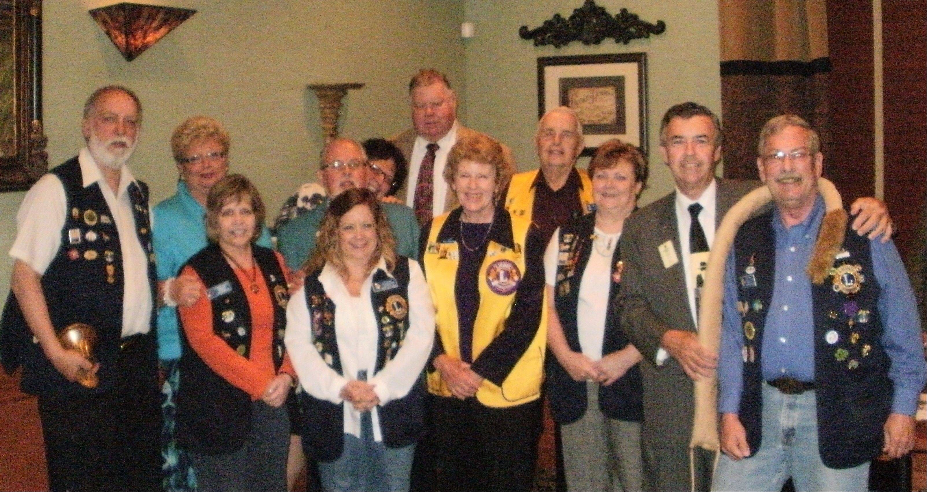 The Elk Grove Lions Club new officers and directors for 2011-2012.