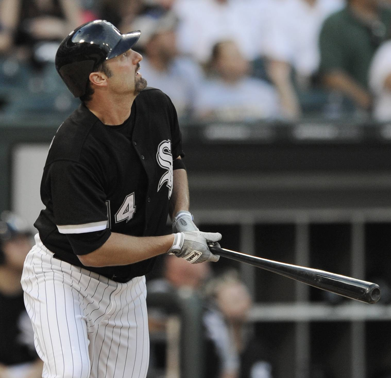 Paul Konerko watches his solo home run against the Kansas City Royals during the second inning Tuesday at U.S. Cellular Field.