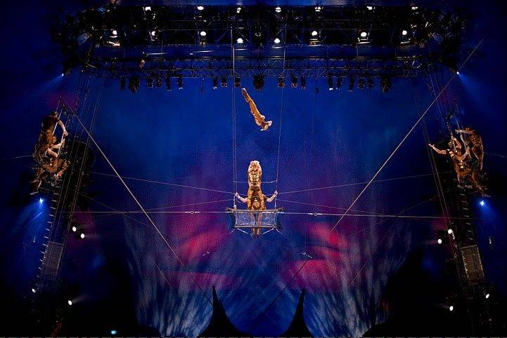 "Scarabs soar in ""Ovo,"" the 2009 Cirque du Soleil spectacular playing through Aug. 21 at Chicago's United Center parking lot."