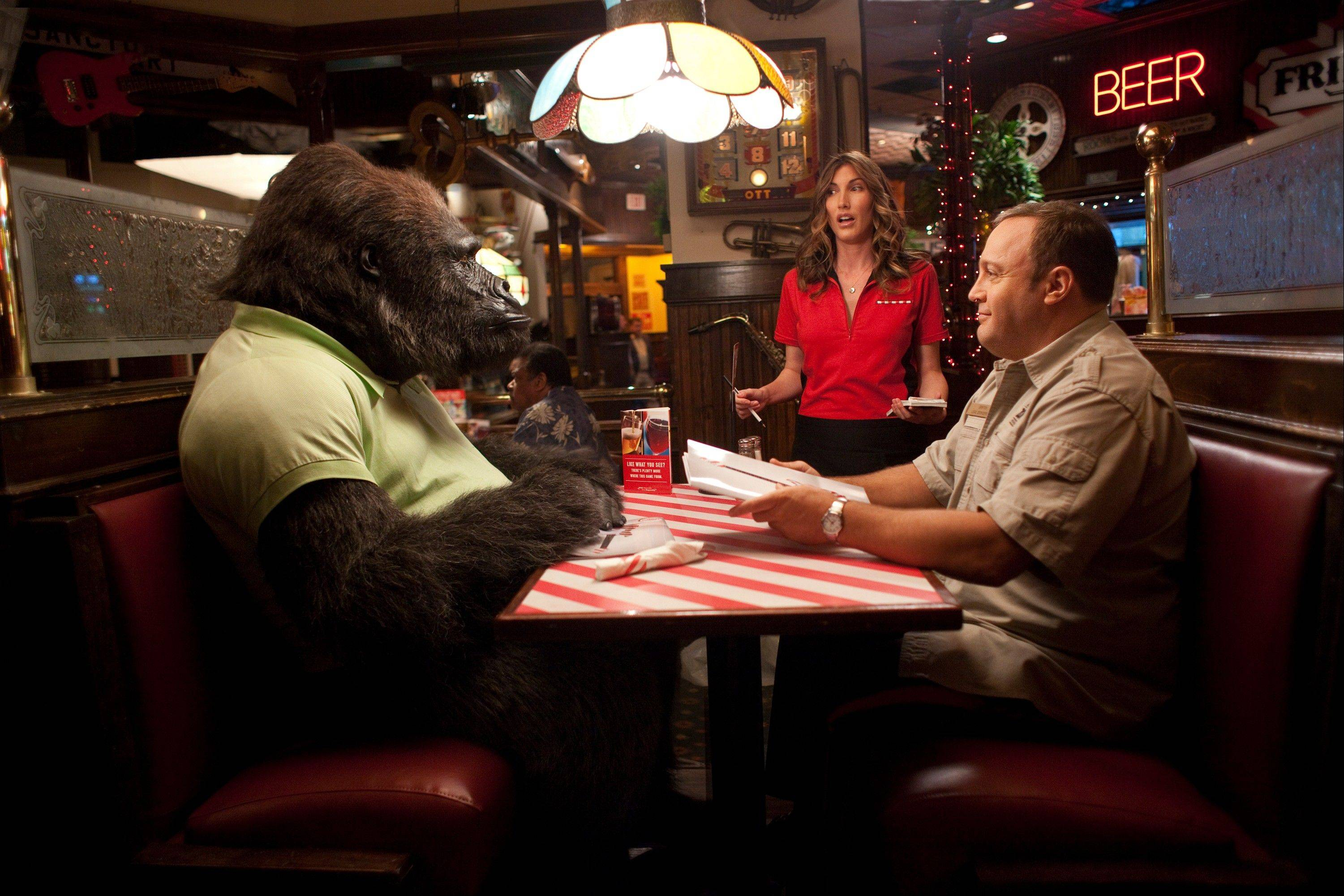 "In the romantic comedy ""Zookeeper,"" a kindly zookeeper (Kevin James) gets dating advice from a gorilla, plus other animals under his care."