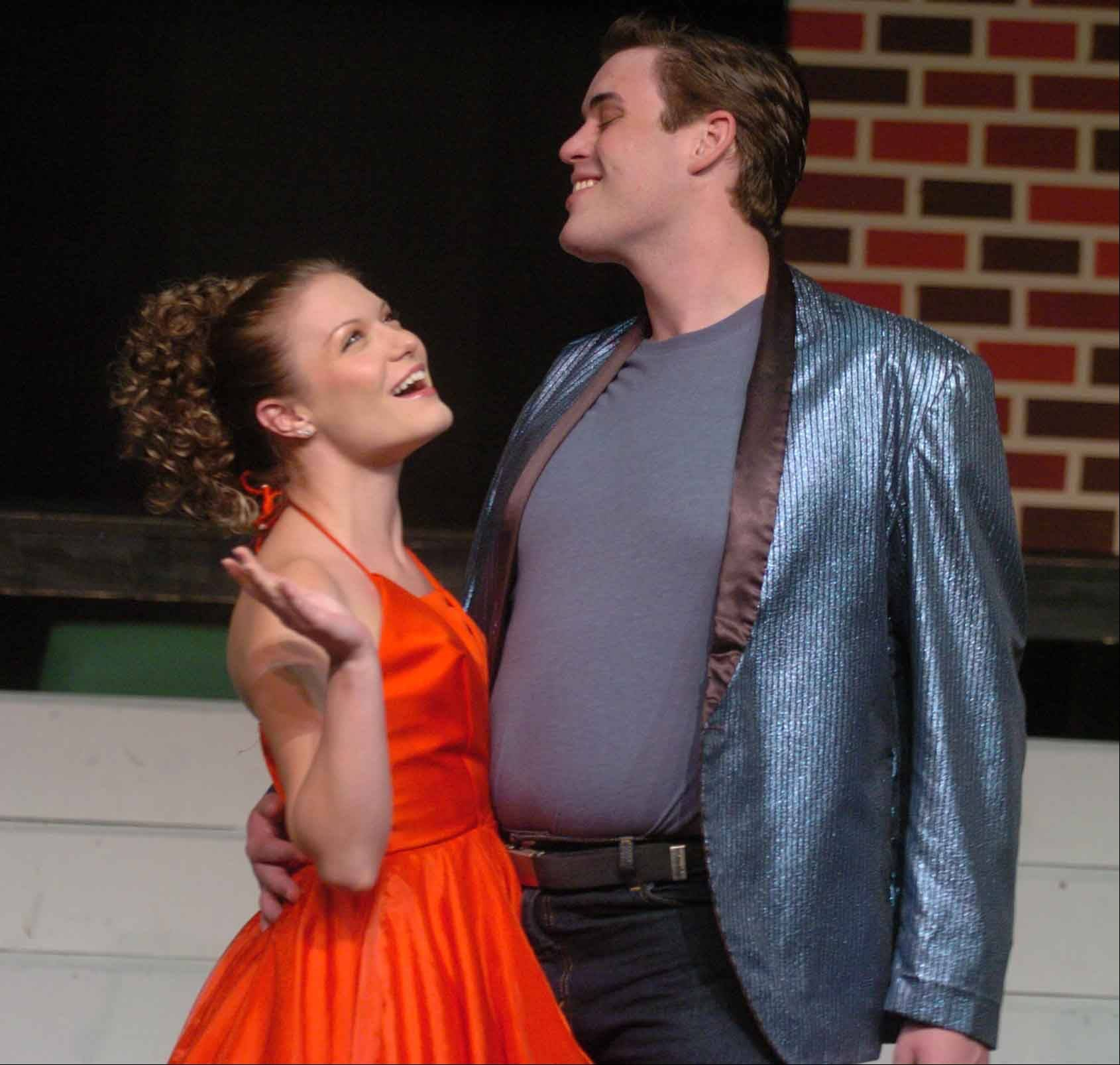 "The 15-member cast of ""Grease"" includes Shynell Owen of Naperville as Cha Cha and Brett Grease of Naperville as Vince."
