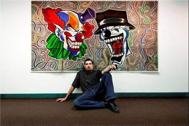 "Using color pencils and common poster board, self-taught artist Raul Maldonado of Hanover Park is exhibiting his work in a show at this museum for ""outsider"" art."