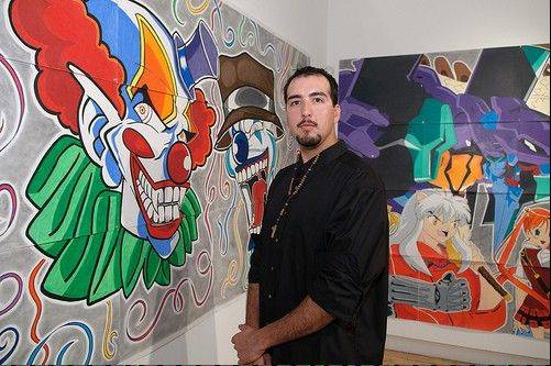 "Laughing as he admits to liking ""too much violence, terror, blood,"" self-taught artist Raul Maldonado of Hanover Park is drawing attention in the art world."