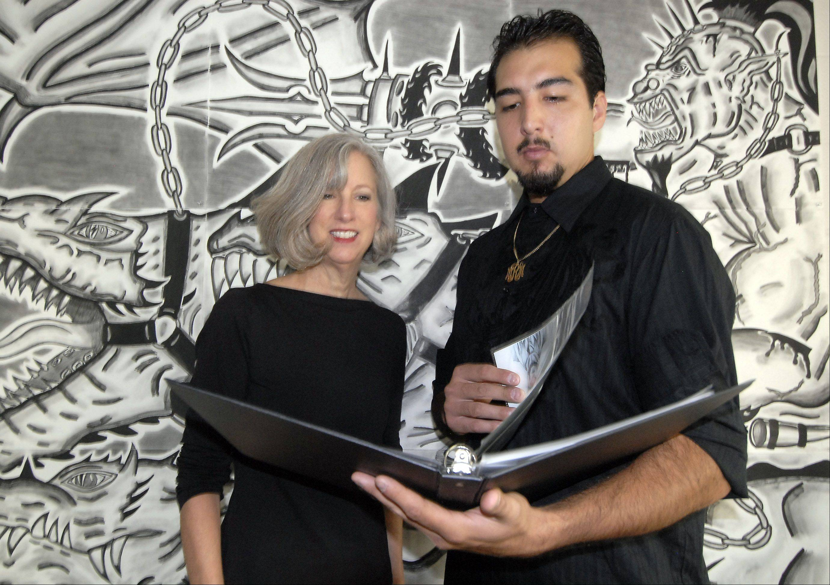 "When self-taught artist Raul Maldonado emptied a garbage bag full of his drawings onto the floor of the Hanover Park Park District Community Center in 2009, arts coordinator Susan Matthews recognized the intensity and talent in his work. Matthews is curator of Maldonado's latest exhibit at a Chicago museum for ""outsider"" art."