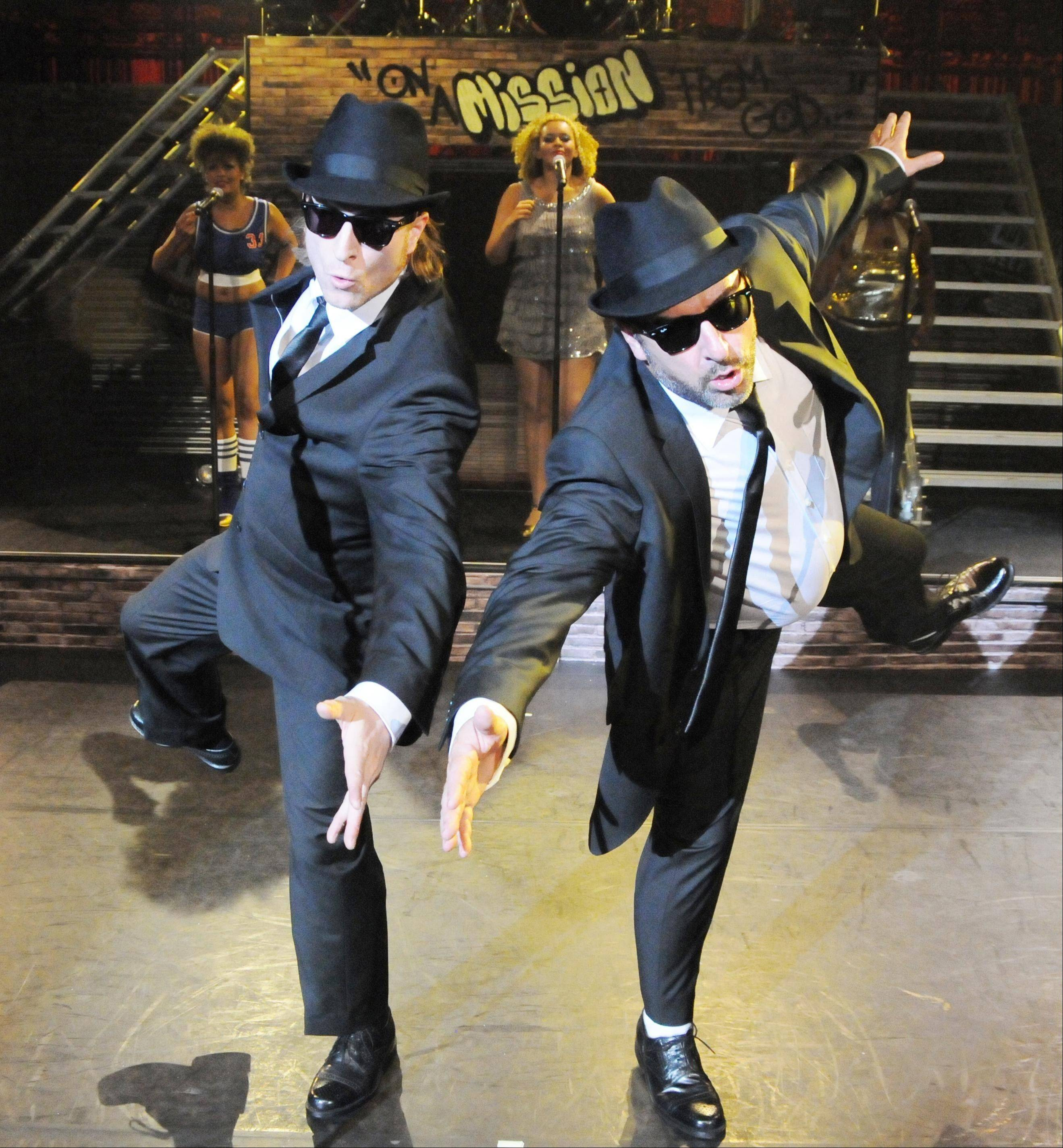 "Daniel Fletcher and Brad Henshaw respectively star as Elwood and Jake Blues in ""The All New Original Tribute to the Blues Brothers"" at the Auditorium Theatre of Roosevelt University in Chicago."