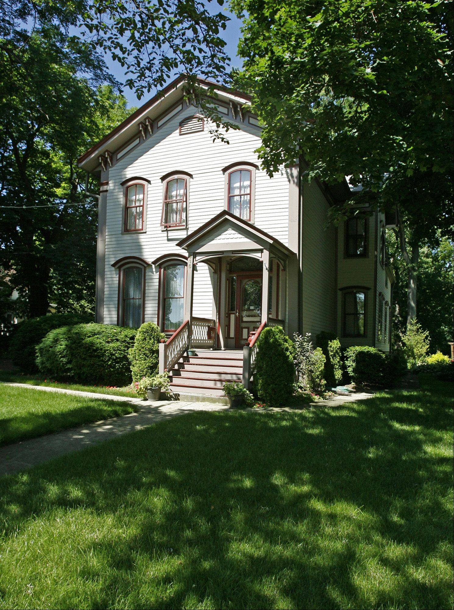 This Queen Anne-style house on North Main Street is among the many older homes in downtown Wheaton.