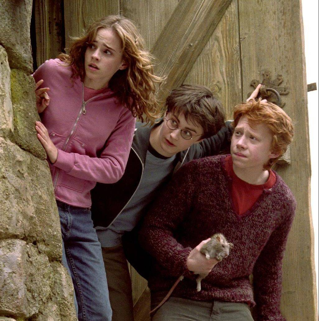 Keeping the cast together has been key to the success of the Harry Potter films. That's especially true in the case of the three young stars playing Hermione (Emma Watson), Harry (Daniel Radcliffe) and Ron (Rupert Grint).