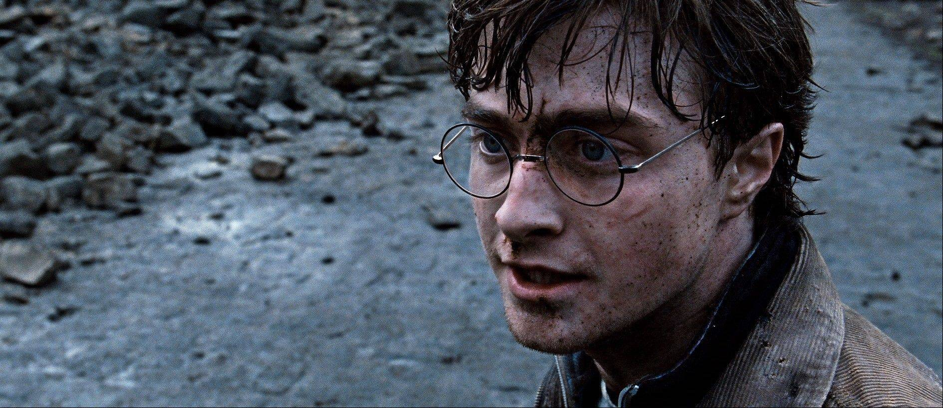"A boy no more, Harry Potter (Daniel Radcliffe) faces Voldemort in ""Harry Potter and the Deathly Hallows Part 2."""
