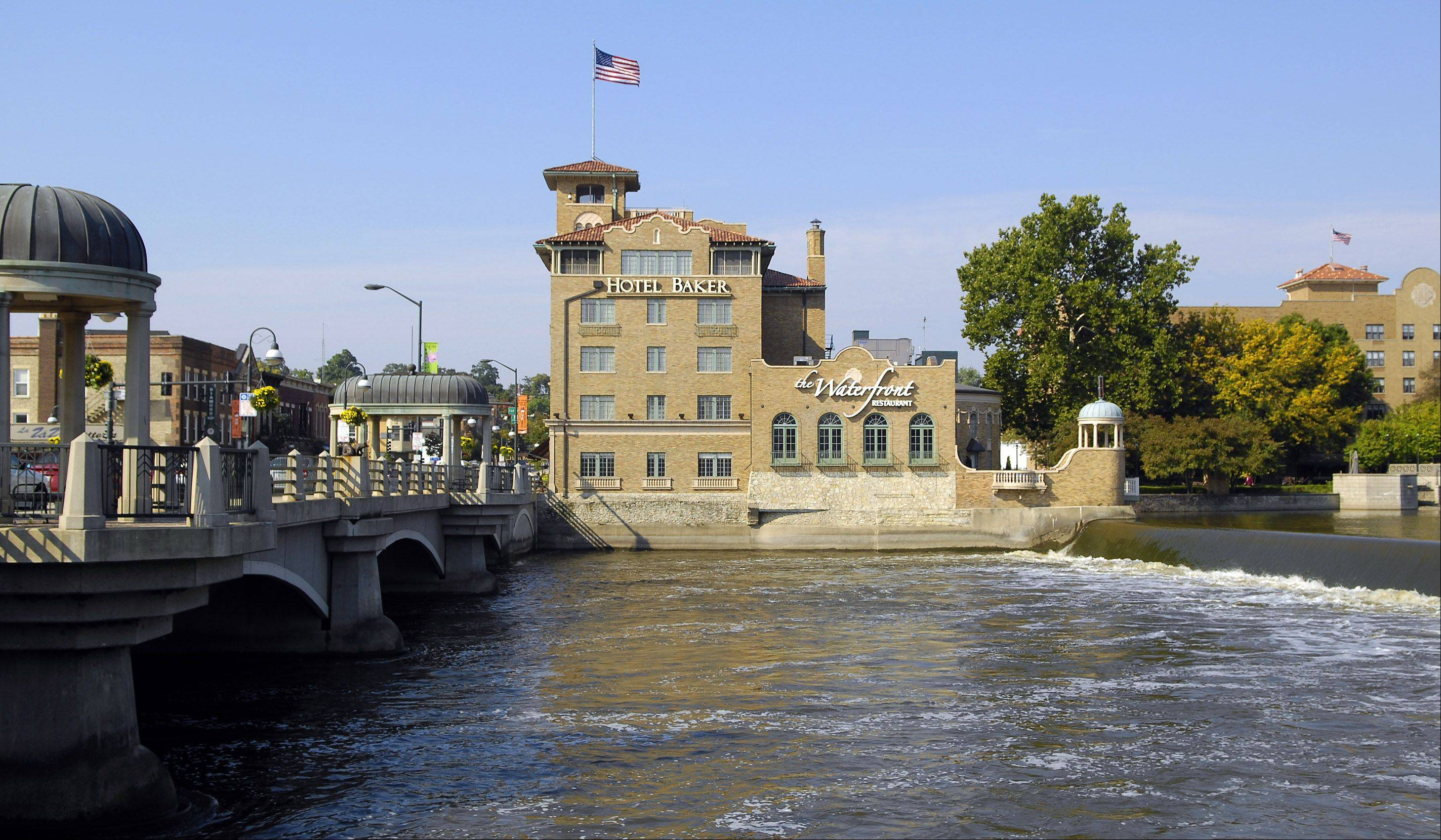 Hotel Baker is a main tourist attraction in St. Charles, which was named the best city in the country to raise a family by Family Circle magazine.
