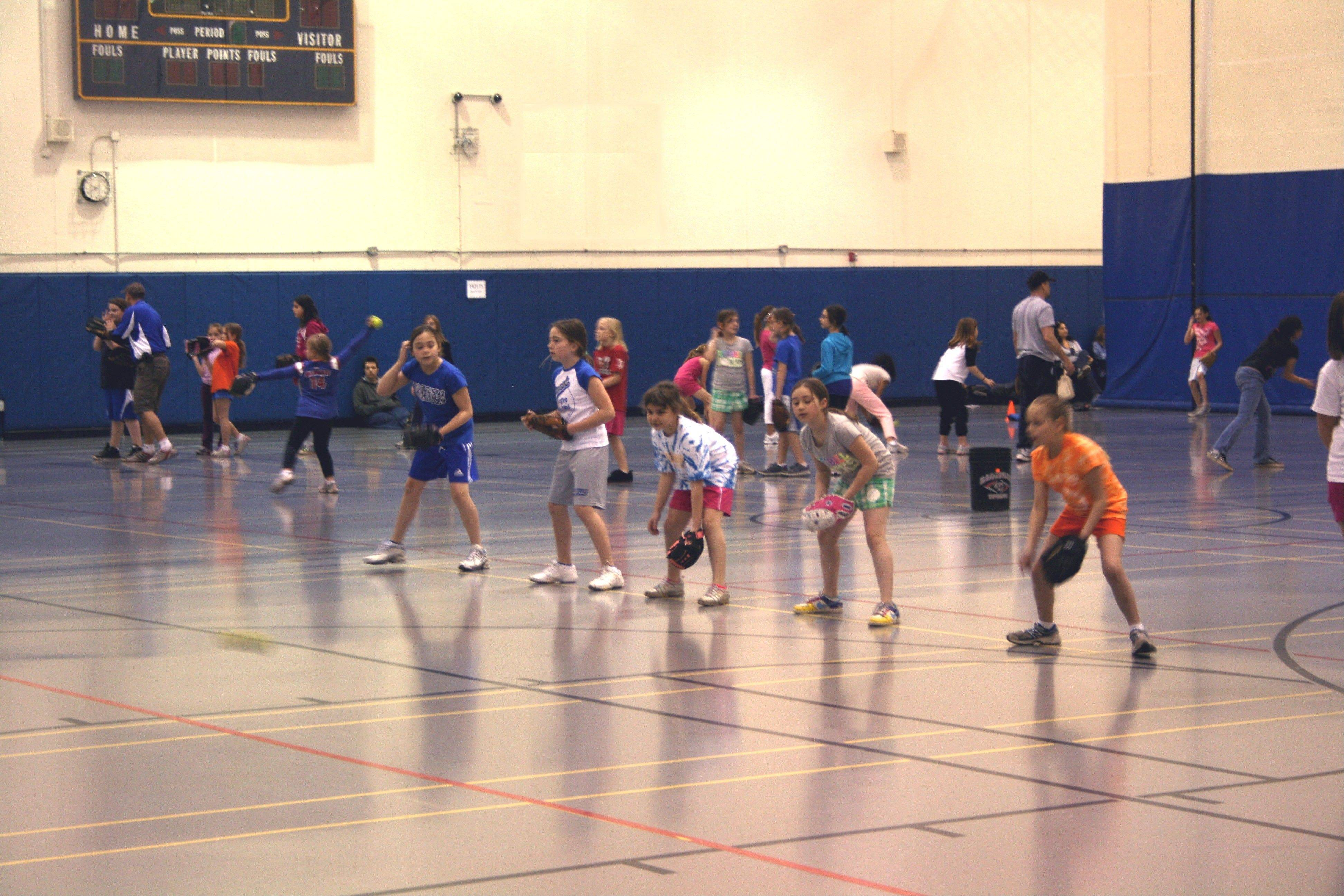 Warren Township Girls Softball held a free player's clinic for more than 100 players, covering hitting, catching, throwing, pitching and fielding.