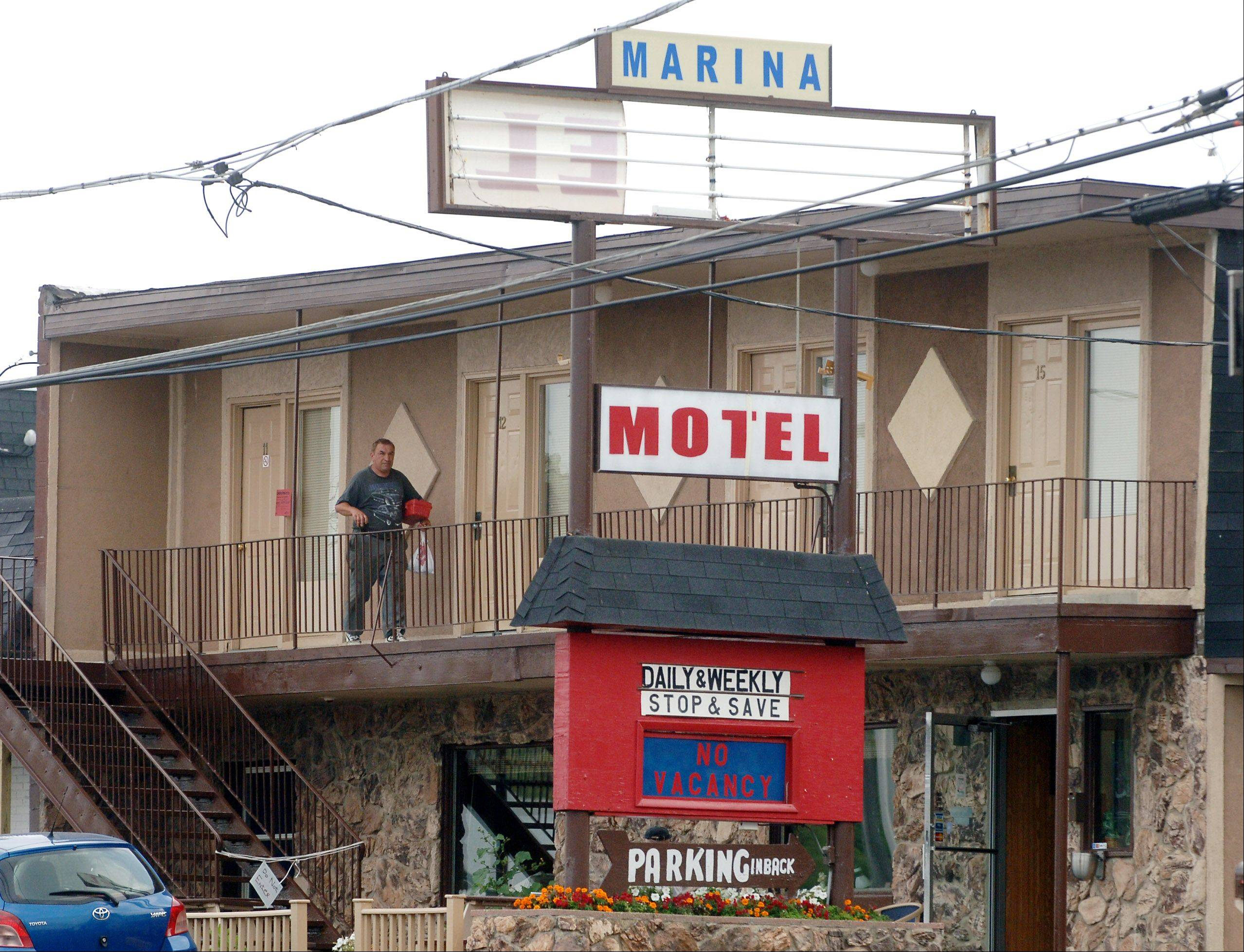 The Marina Motel on Route 12 in Fox Lake when it was shut down in 2009 because of building code violations.