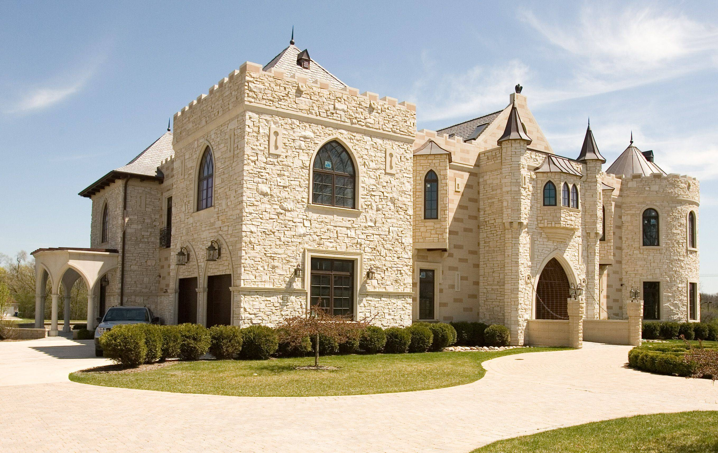 If you're looking to buy a home for, oh, about $5 million, you may want to consider this castle-like structure near 31st Street, just west of York Road in Oak Brook.