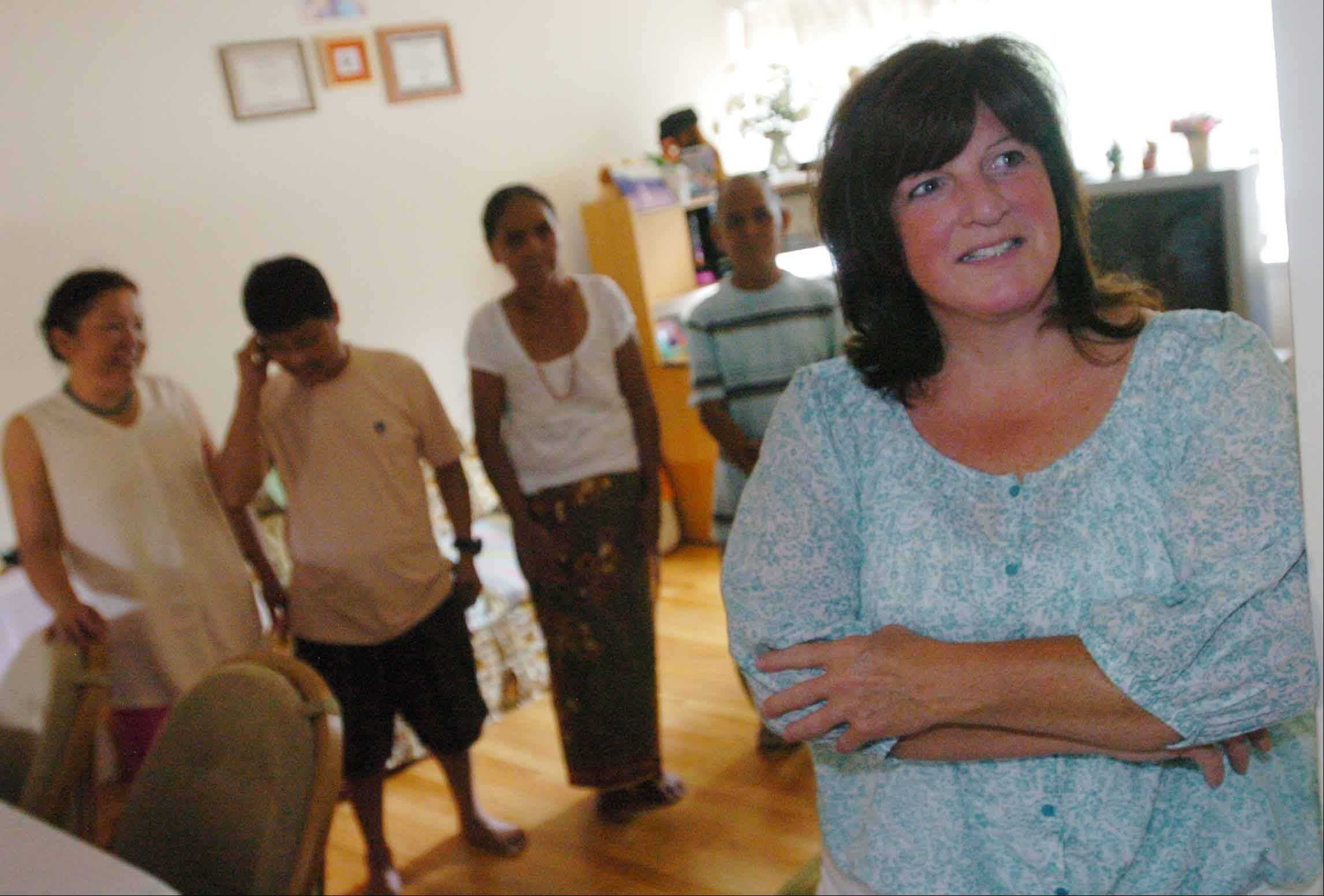 Exodus World Service volunteer Sue Horgan of Roselle has worked with the Magar family since February to help them become acclimated to life in the United States.