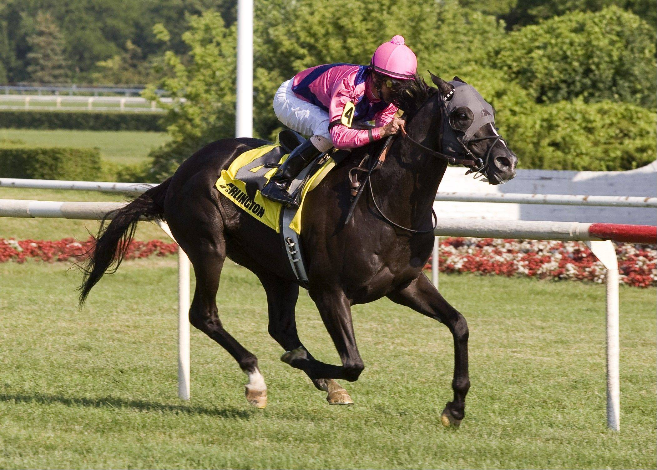 Willcox Inn, with Robby Albarado onboard, wins Saturday�s American Derby by 4 lengths at Arlington Park.