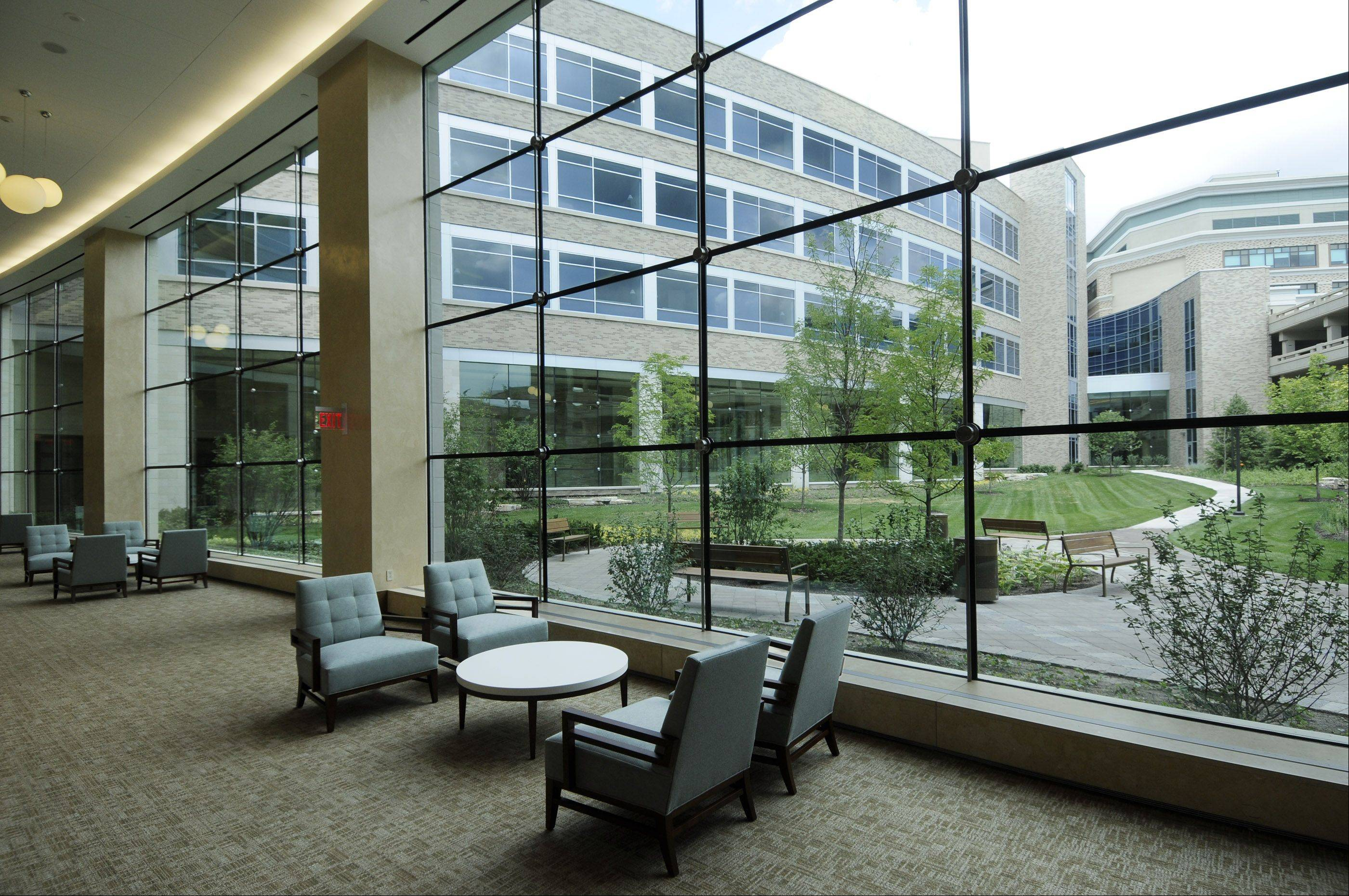 The new wing at Central DuPage Hospital in Winfield will have a centrally located courtyard with a sculpture to be added in the fall.