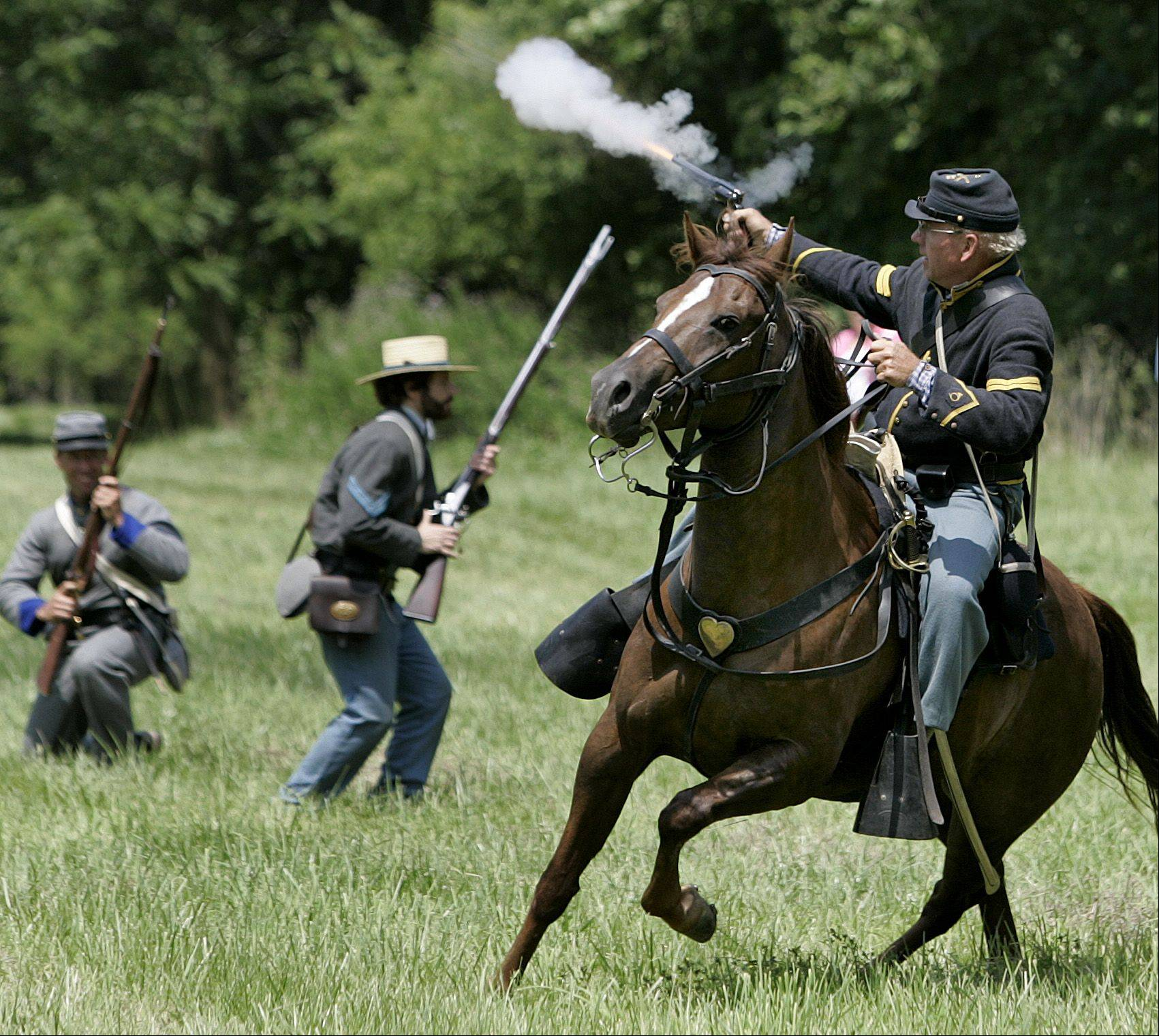 Watch re-enactments of famous Civil War battles at the Civil War Days at the Lakewood Forest Preserve in Wauconda.