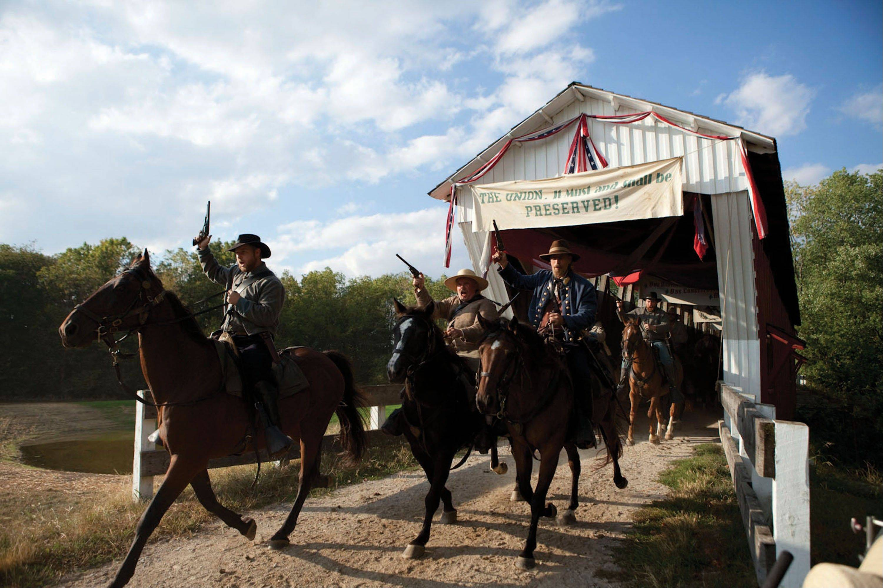 """1863 Civil War Journey: Raid on Indiana"" is part of the Conner Prairie Interactive History Park."