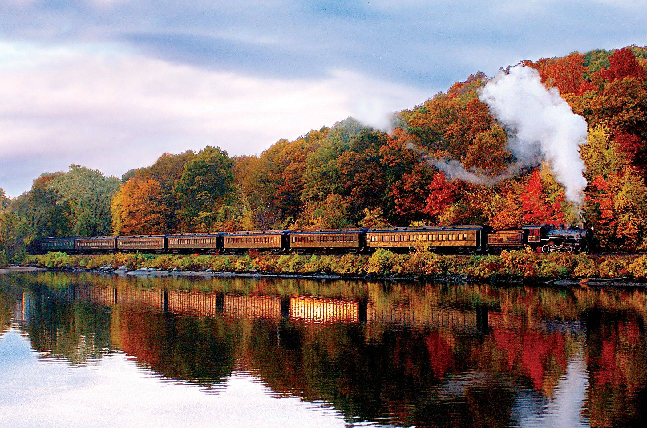 Experience the beauty of nature via a fall foliage tour with Vacations By Rail.