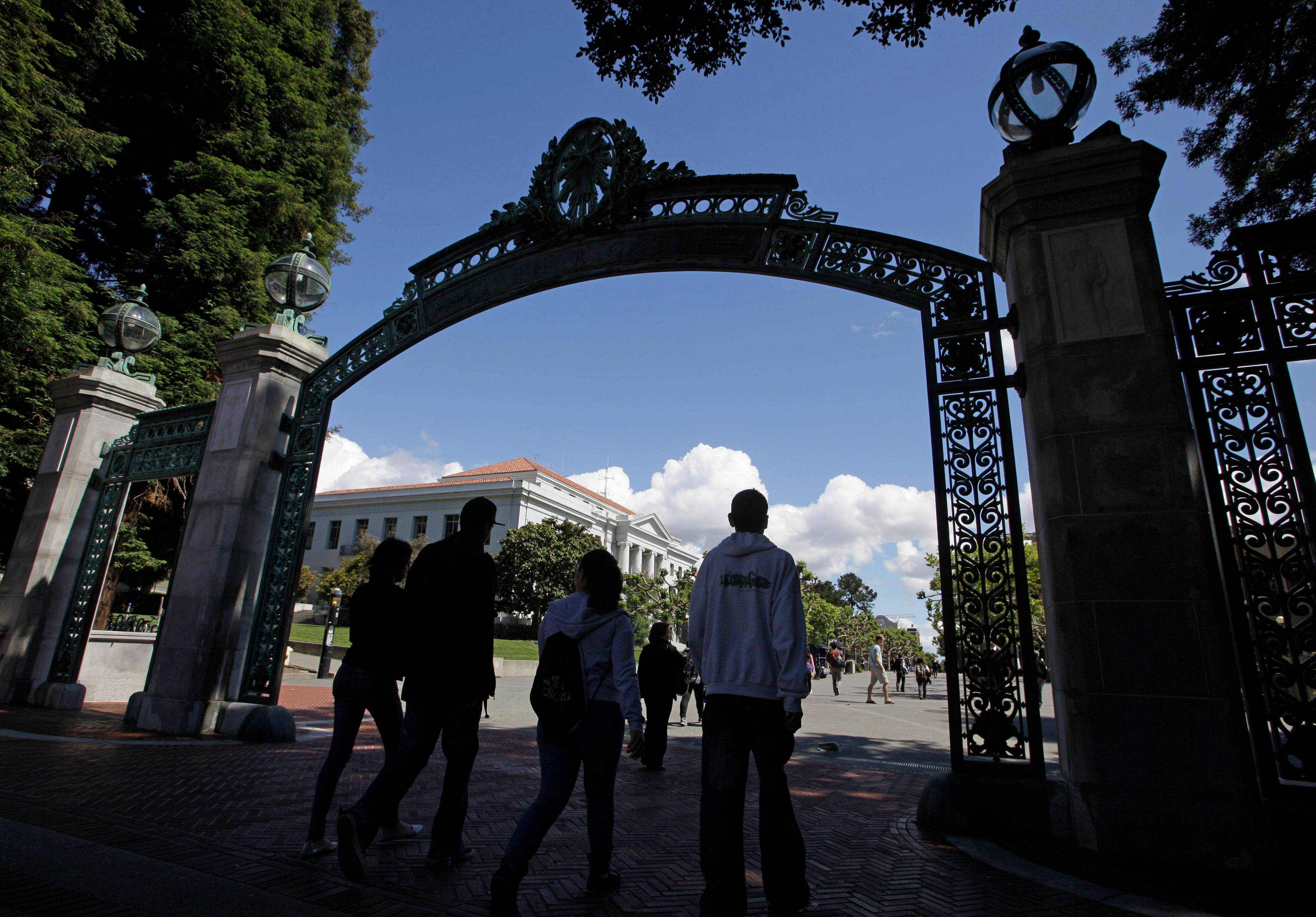 The Sather Gate is a well-known attraction on the University of California, Berkeley campus.