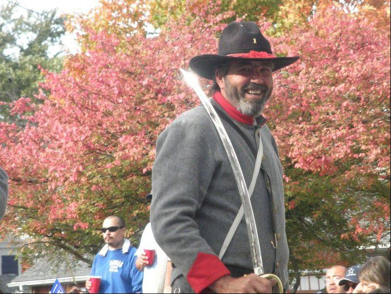 Ron Raidy of Bartlett at a Civil War re-enactment.