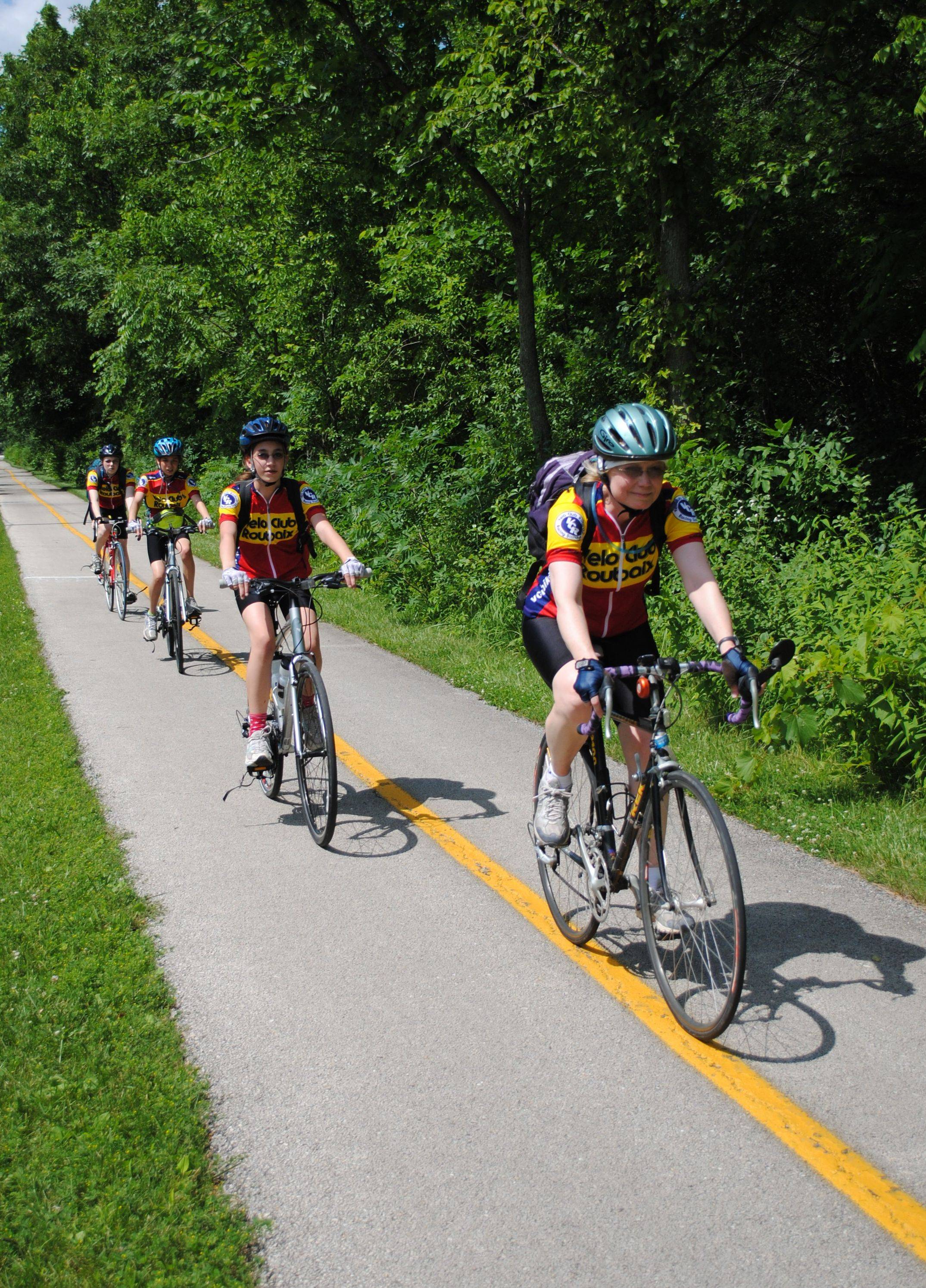 The Chicago area has miles and miles of trails for cycling enthusiasts to enjoy.
