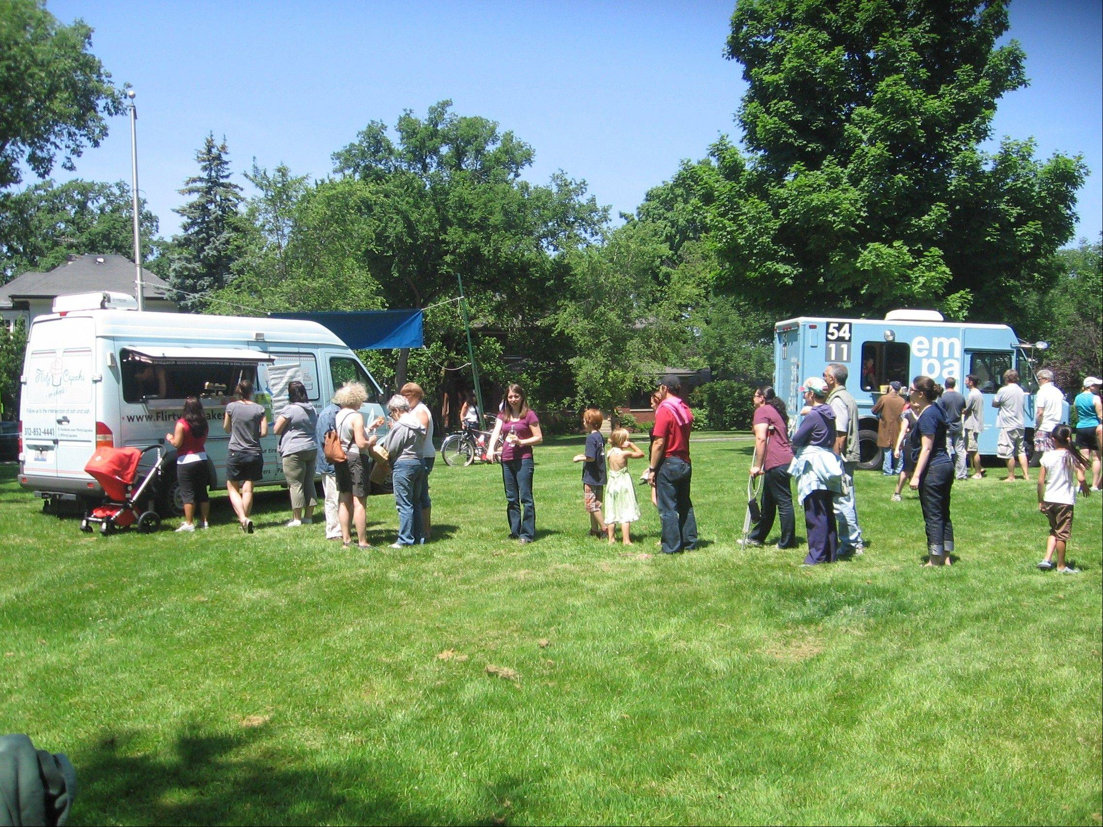 When in the suburbs, food trucks tend to stick to crowded festivals in order to get the traffic they need.