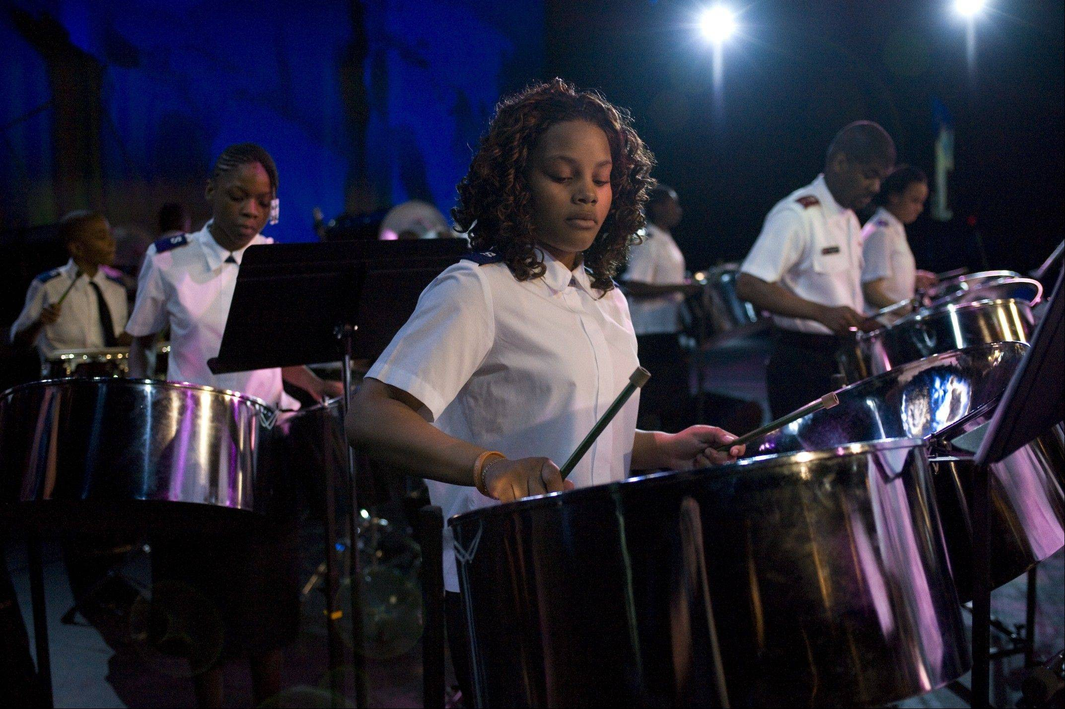 The Salvation Story Steel Orchestra is part of an outreach program sponsored by the Salvation Army in Chicago's Englewood neighborhood.
