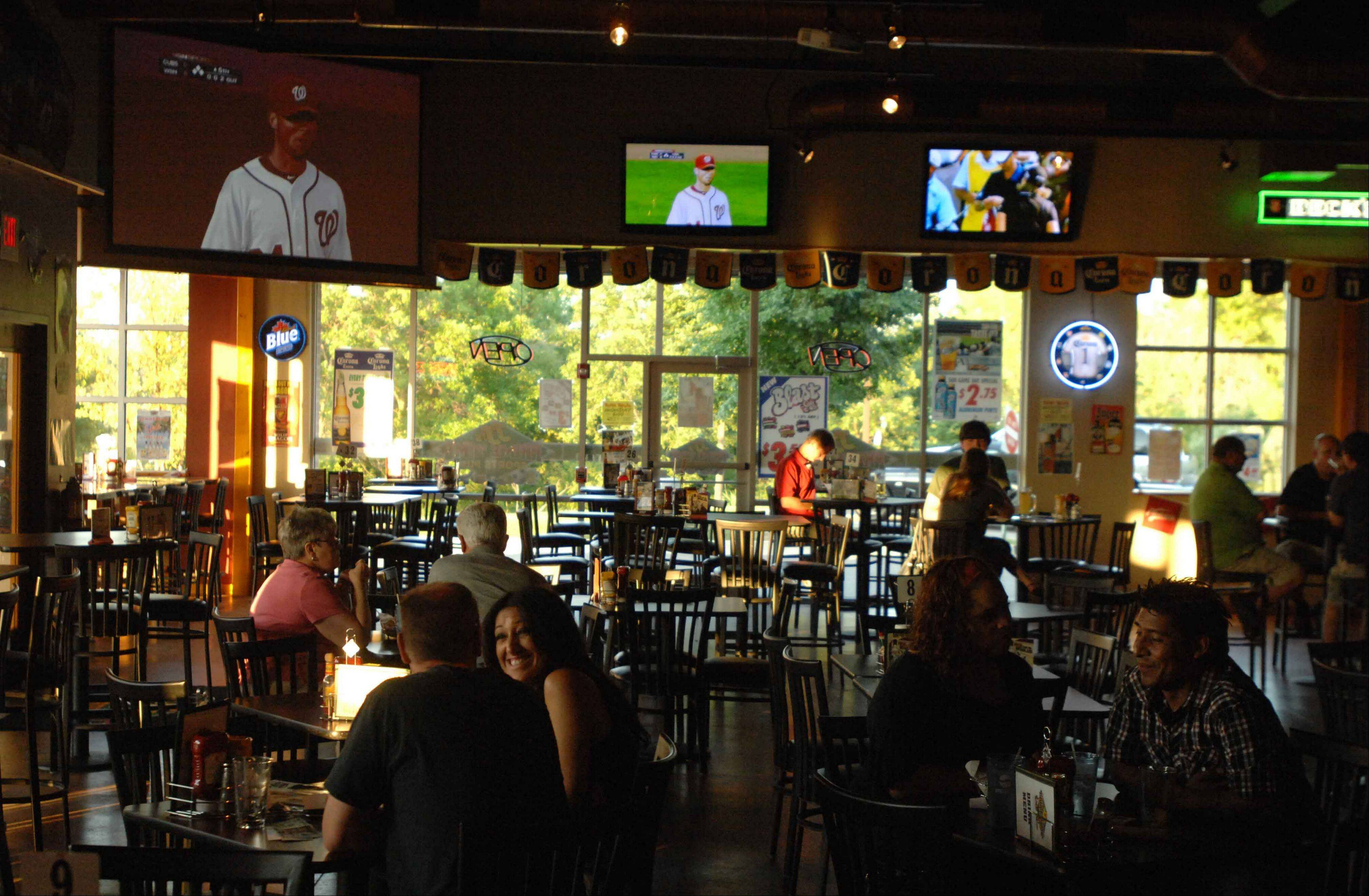 You can catch a game or just relax with friends over dinner and drinks at JJ's Prime Time in Aurora.