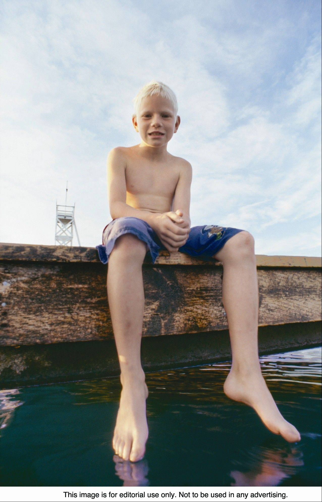 Learning to swim enables a child to be more comfortable around the water.